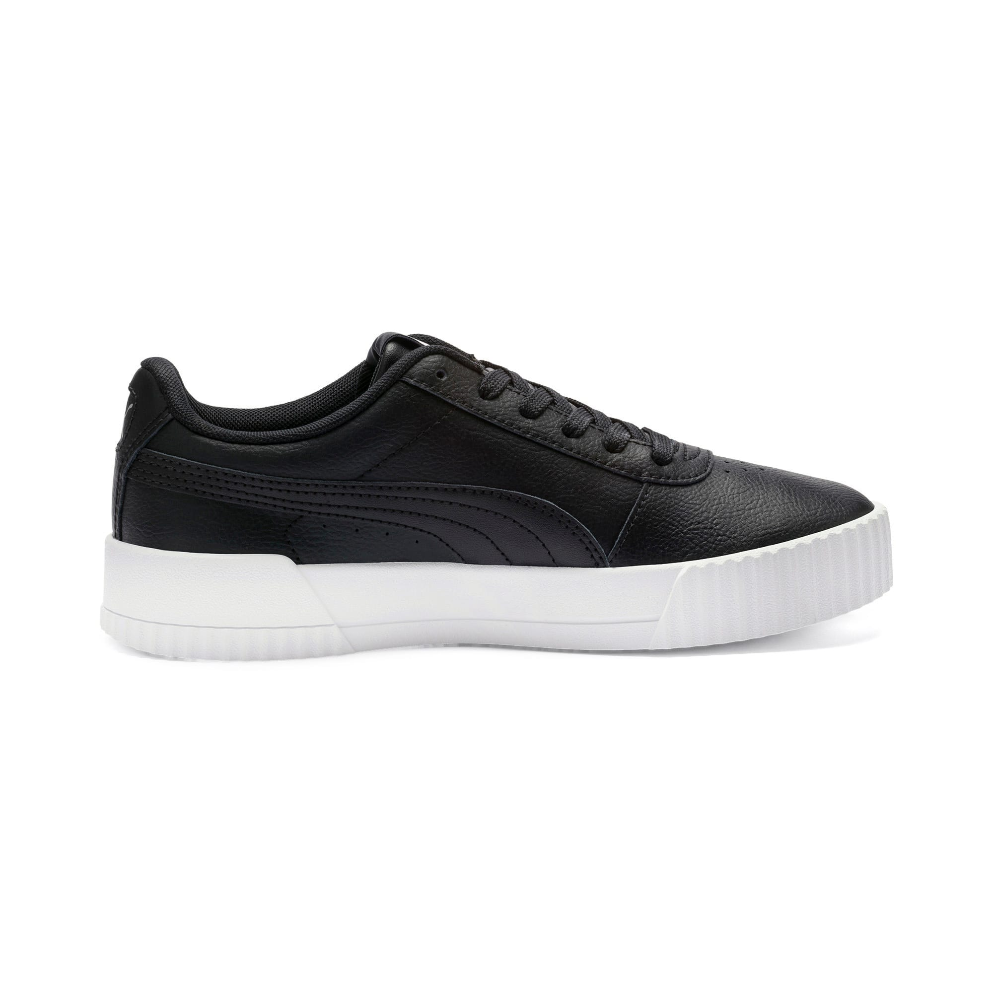 Thumbnail 6 of Carina Leather Women's Sneakers, Puma Black- White-Silver, medium