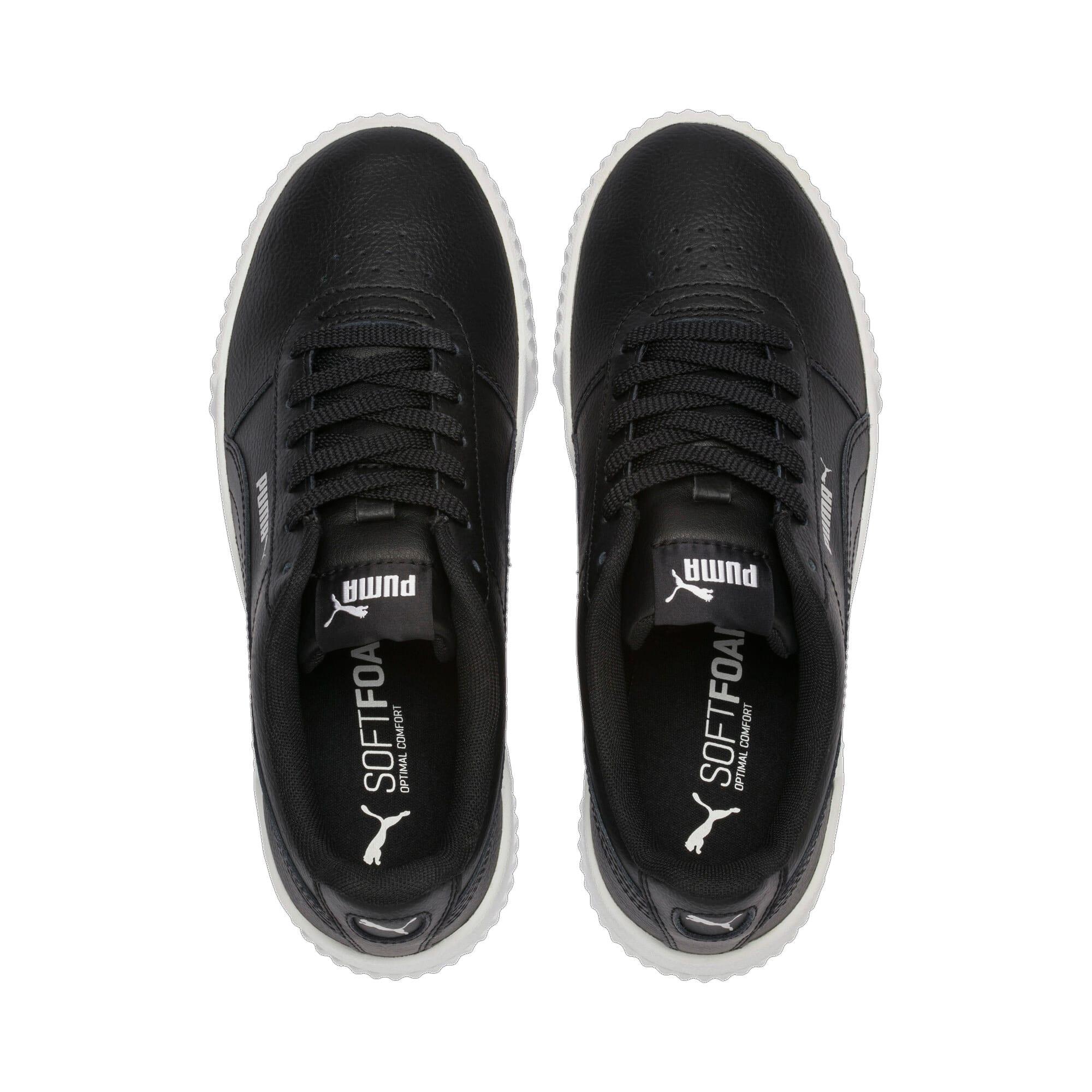Thumbnail 7 of Carina Leather Women's Sneakers, Puma Black- White-Silver, medium