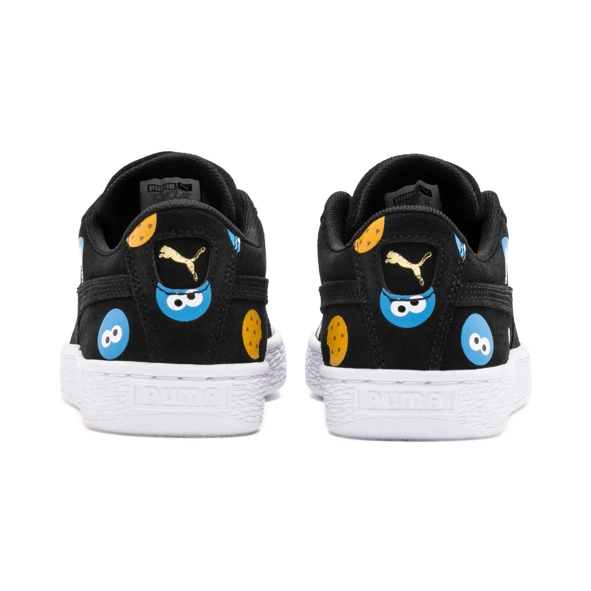 Thumbnail 3 of PUMA x SESAME STREET 50 Suede Badge Sneakers JR, Puma Black-Bleu Azur, medium