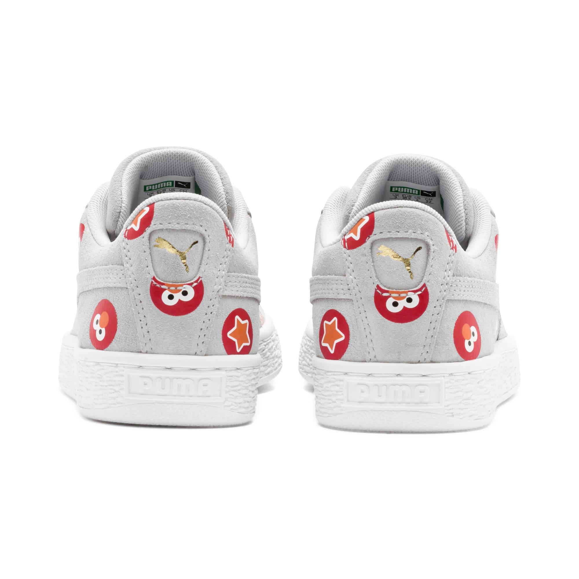 Thumbnail 4 of PUMA x SESAME STREET 50 Suede Badge Sneakers JR, Grey Dawn-High Risk Red, medium