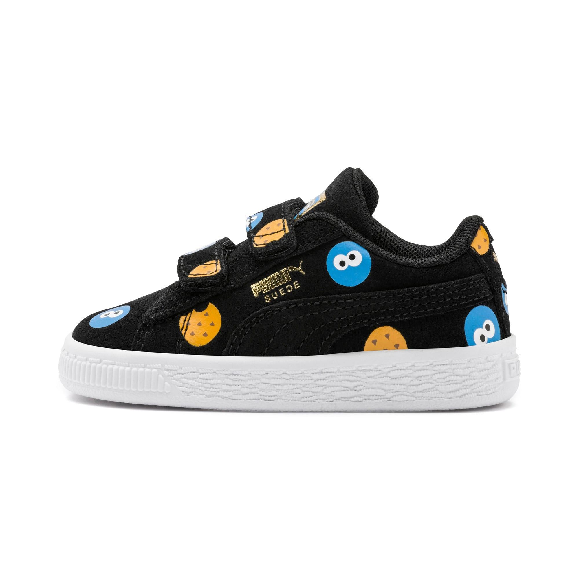 Thumbnail 1 of PUMA x SESAME STREET 50 Suede Badge Toddler Shoes, Puma Black-Bleu Azur, medium