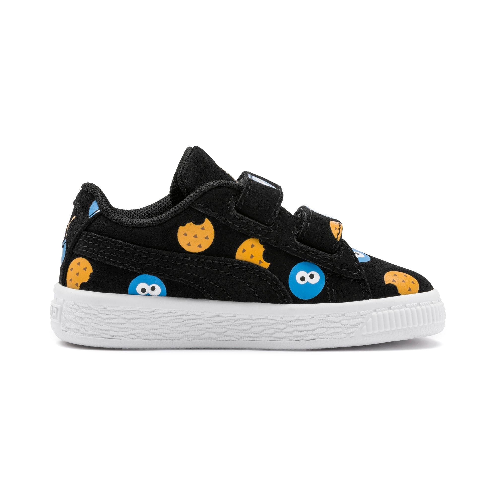 Thumbnail 6 of PUMA x SESAME STREET 50 Suede Badge Toddler Shoes, Puma Black-Bleu Azur, medium
