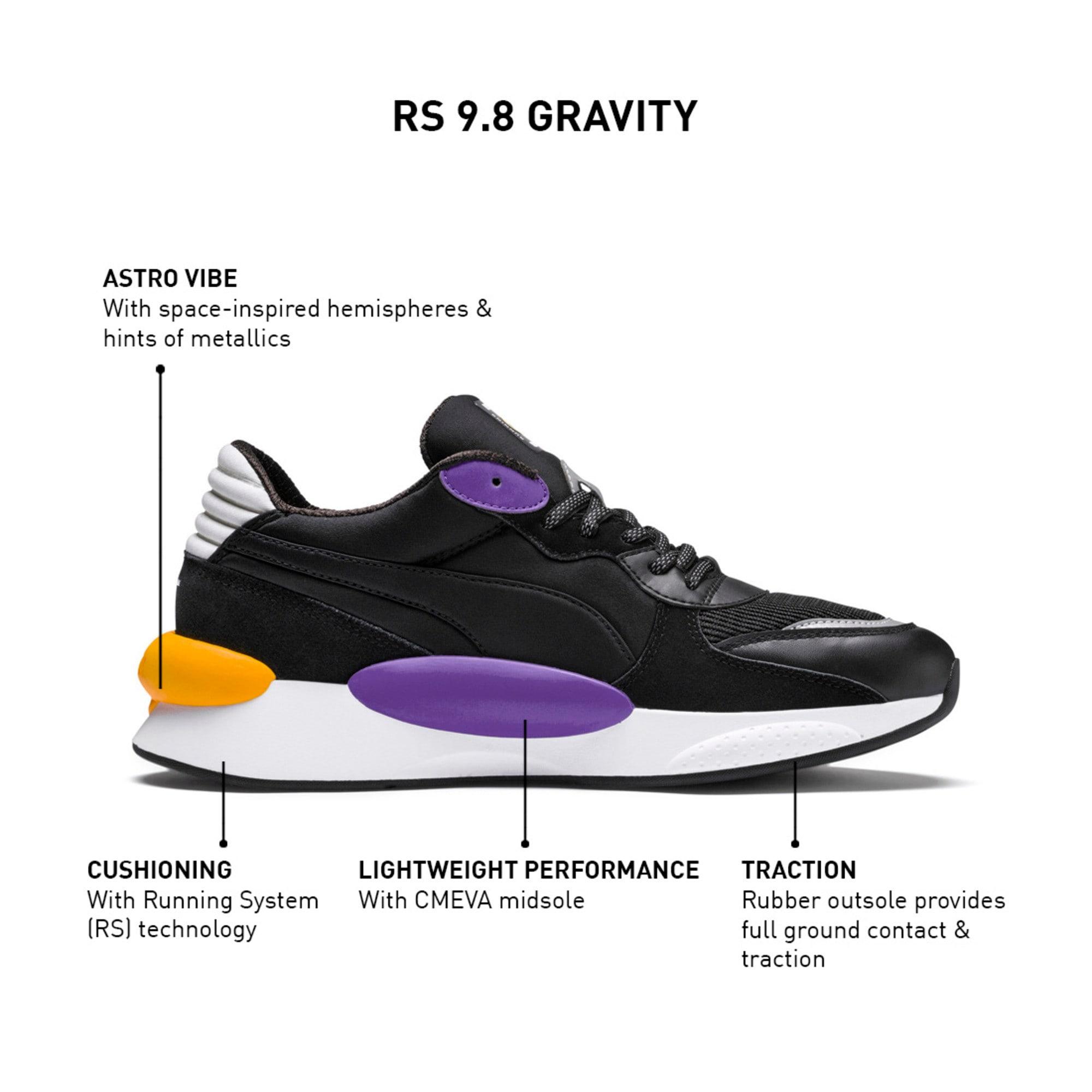 Thumbnail 9 of RS 9.8 Gravity Trainers, Puma Black-Purple Glimmer, medium-IND