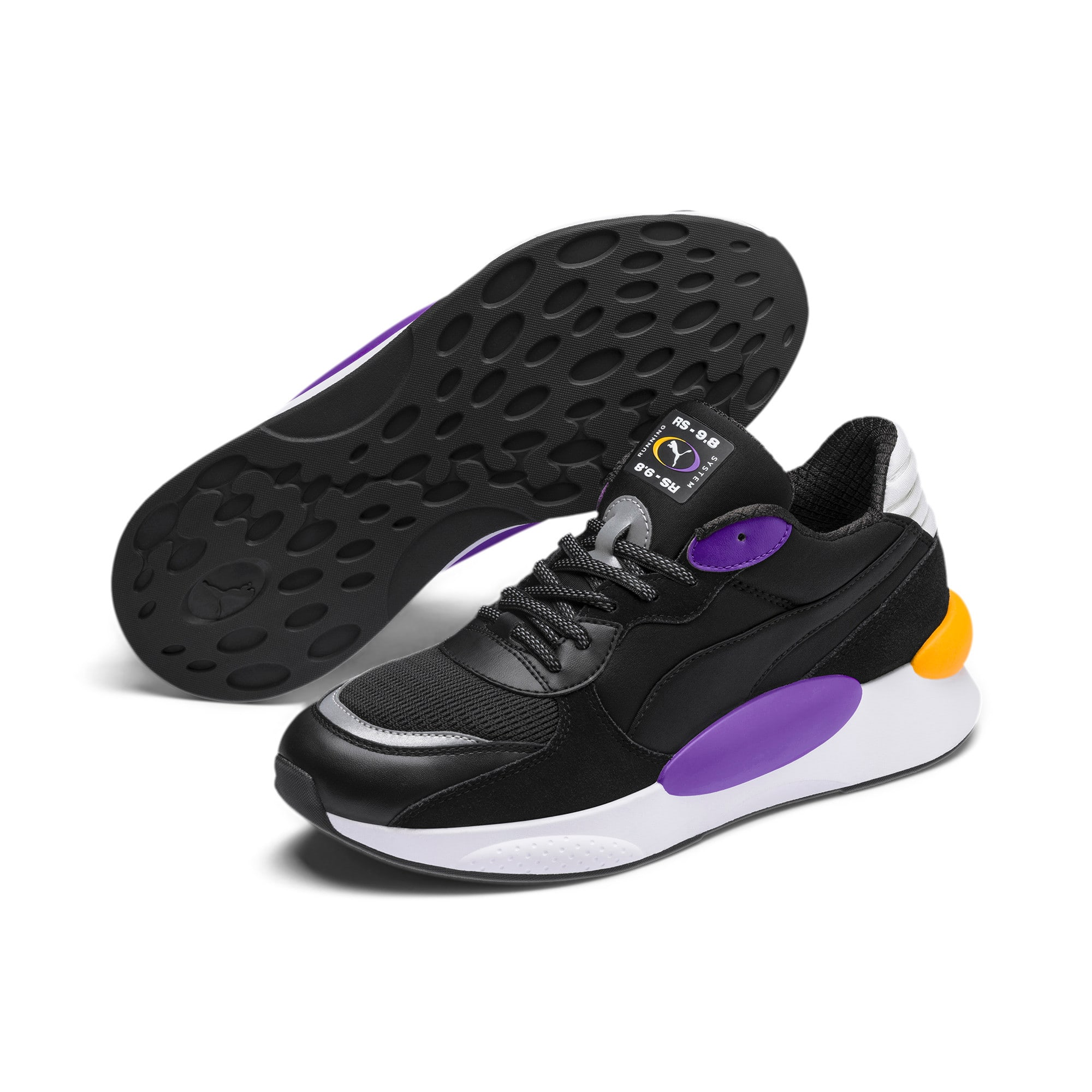 Thumbnail 3 of RS 9.8 Gravity Trainers, Puma Black-Purple Glimmer, medium
