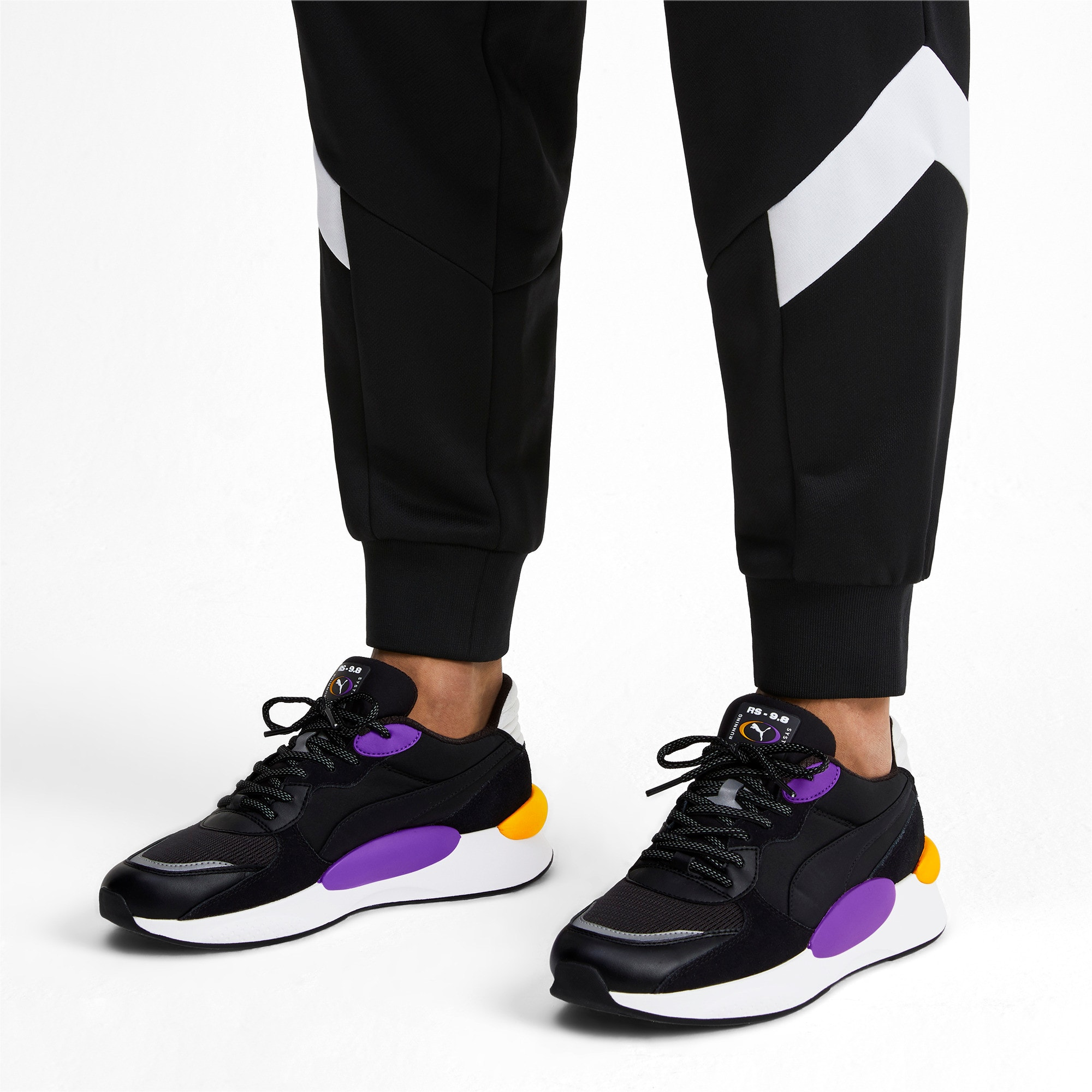 Thumbnail 2 of RS 9.8 Gravity Trainers, Puma Black-Purple Glimmer, medium