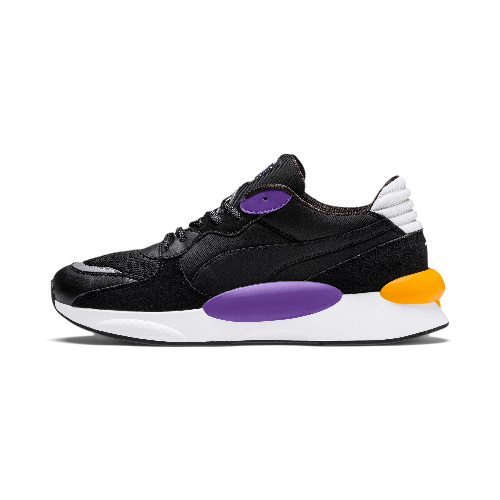Thumbnail 1 of RS 9.8 Gravity Trainers, Puma Black-Purple Glimmer, medium