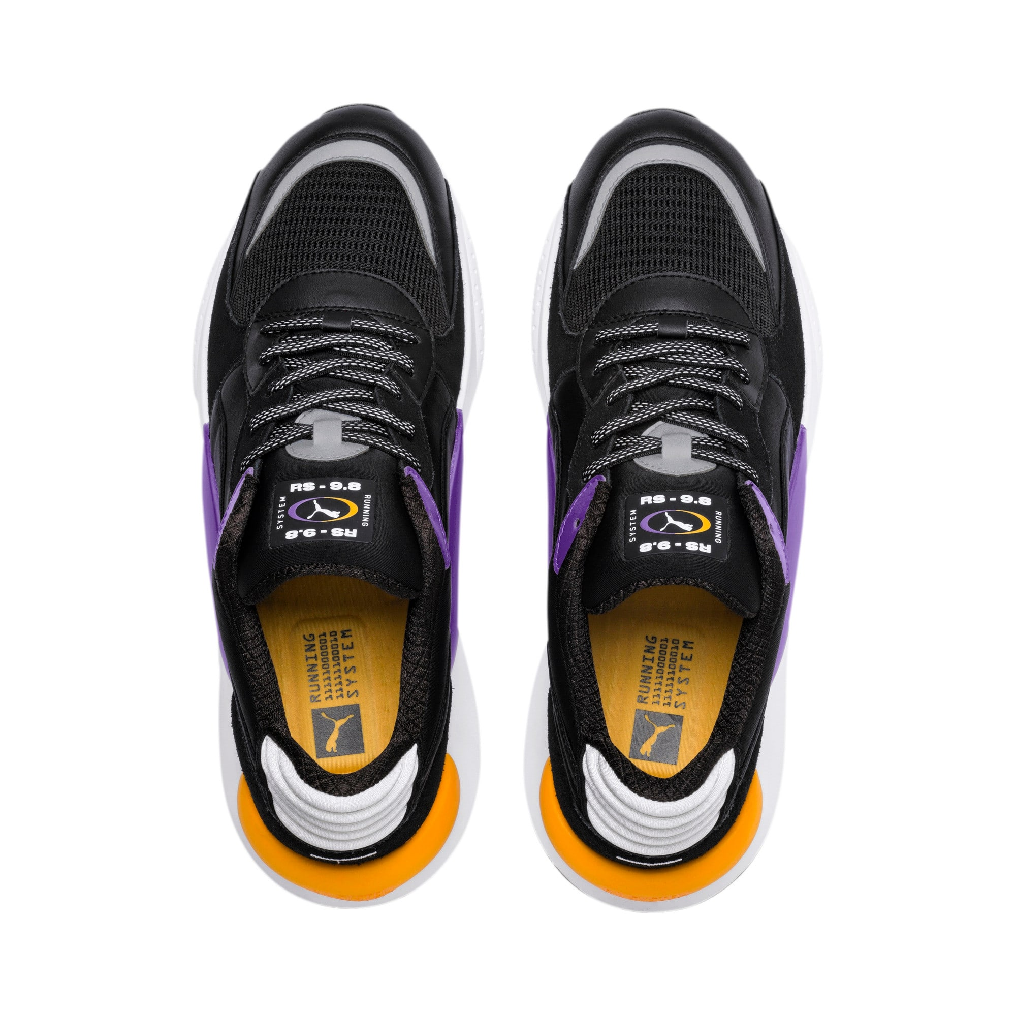 RS 9.8 Gravity Sneakers, Puma Black-Purple Glimmer, large