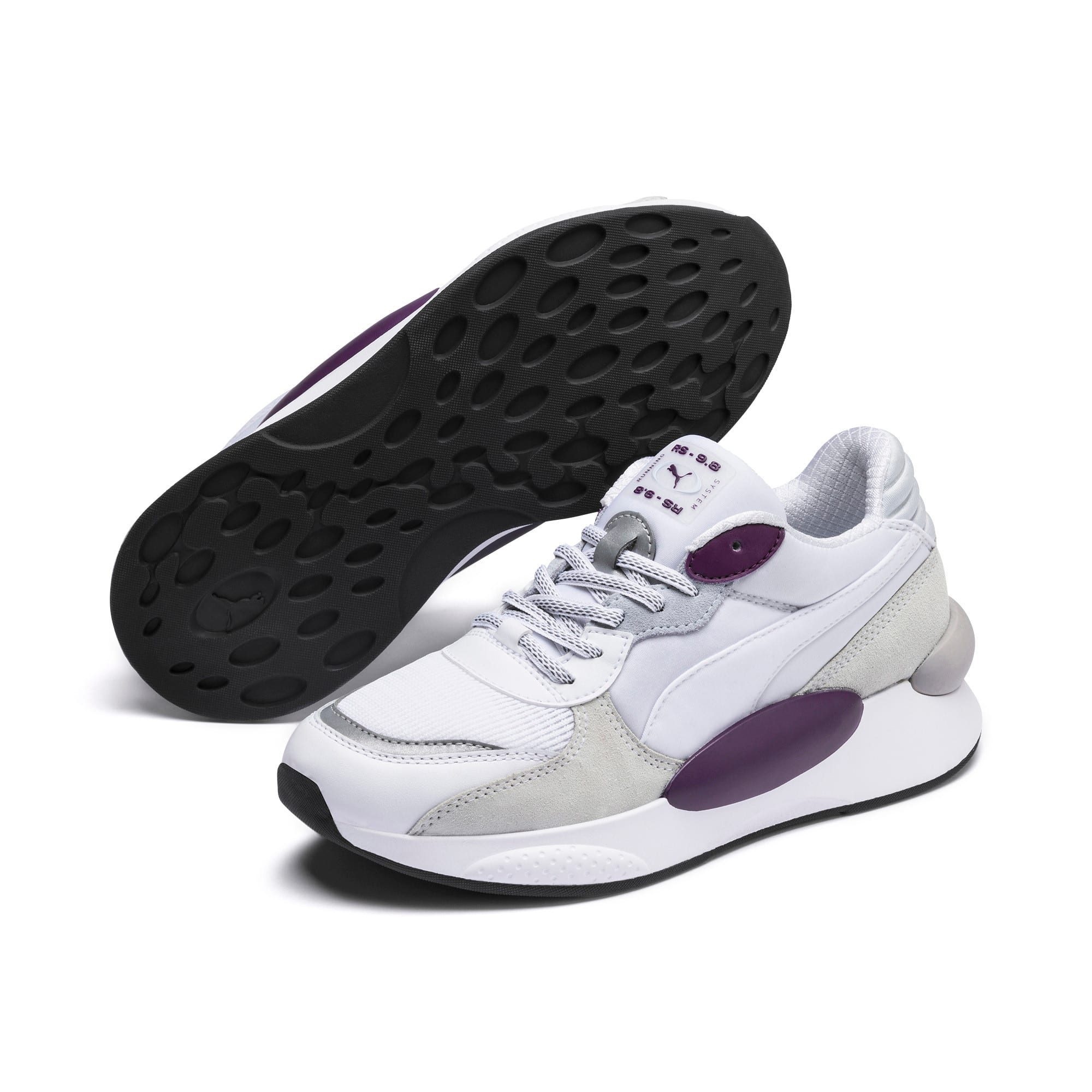 Thumbnail 3 of RS 9.8 Gravity Sneaker, Puma White-Plum Purple, medium