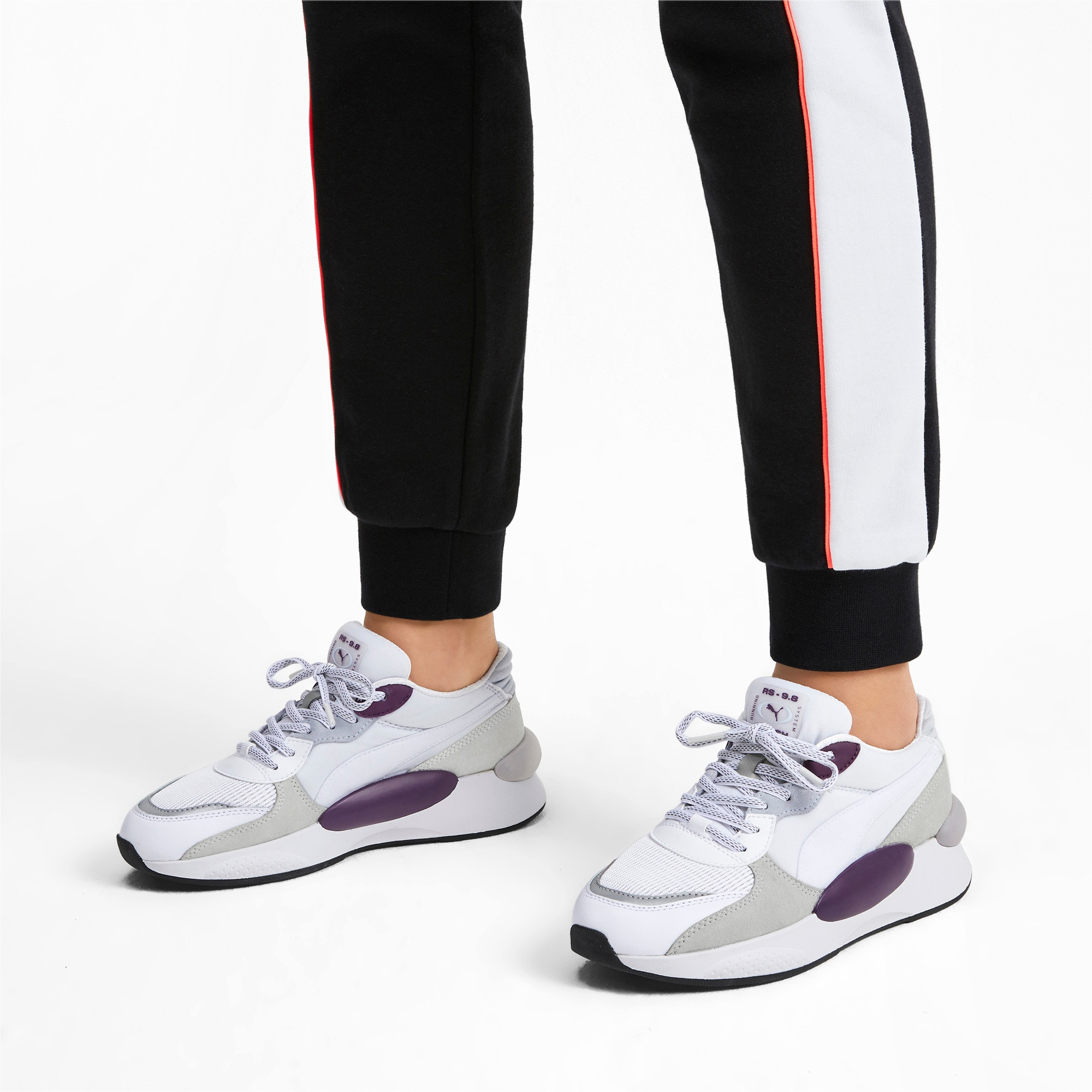 Thumbnail 2 of RS 9.8 Gravity Sneaker, Puma White-Plum Purple, medium