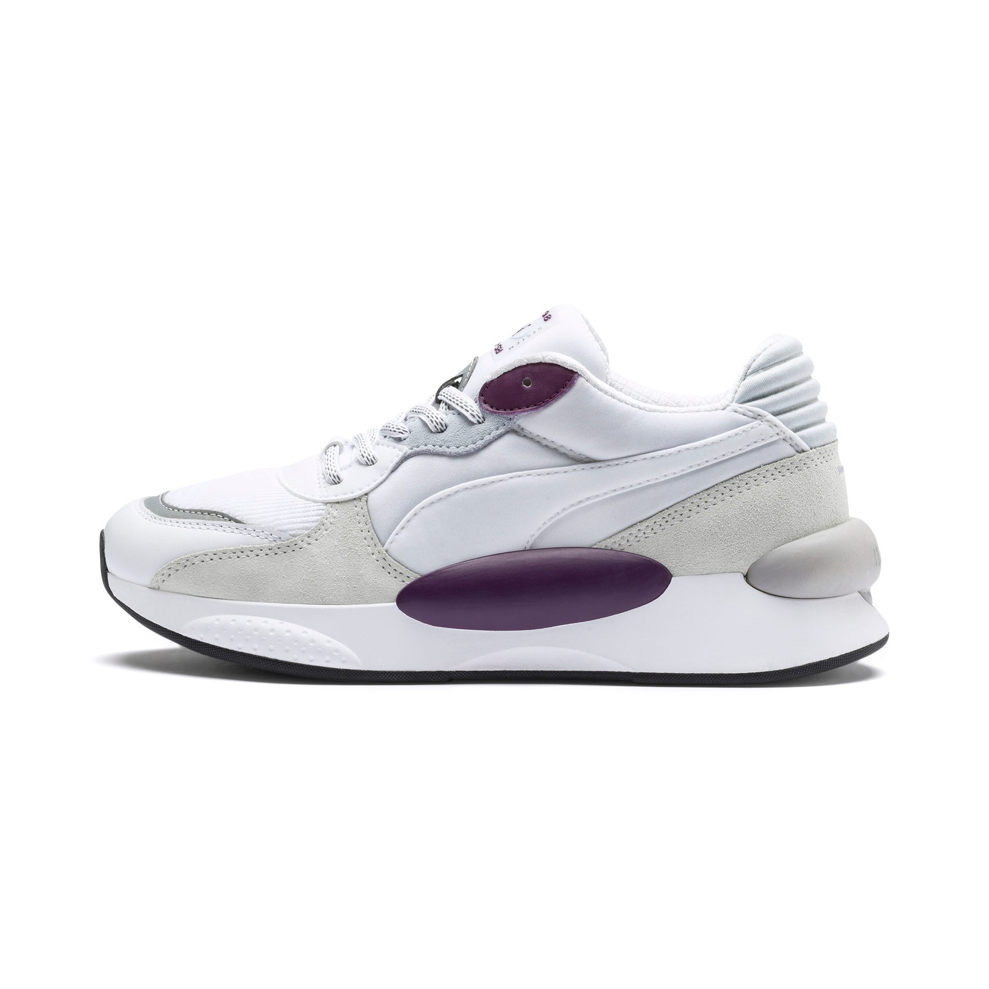 Thumbnail 1 of RS 9.8 Gravity Sneaker, Puma White-Plum Purple, medium