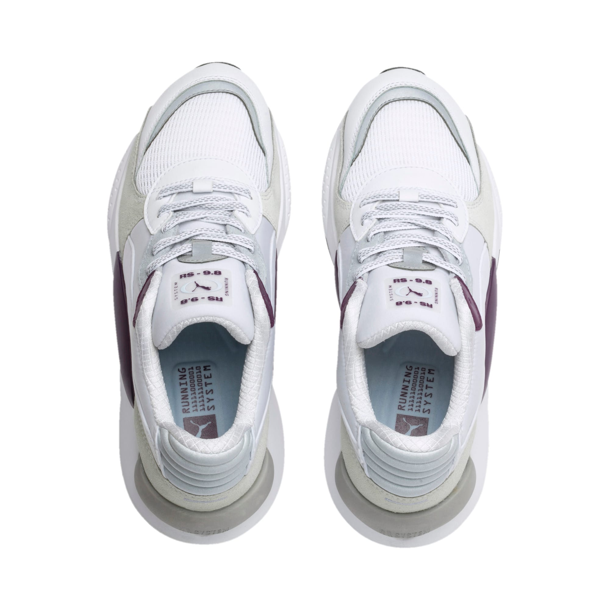Thumbnail 7 of RS 9.8 Gravity Sneaker, Puma White-Plum Purple, medium