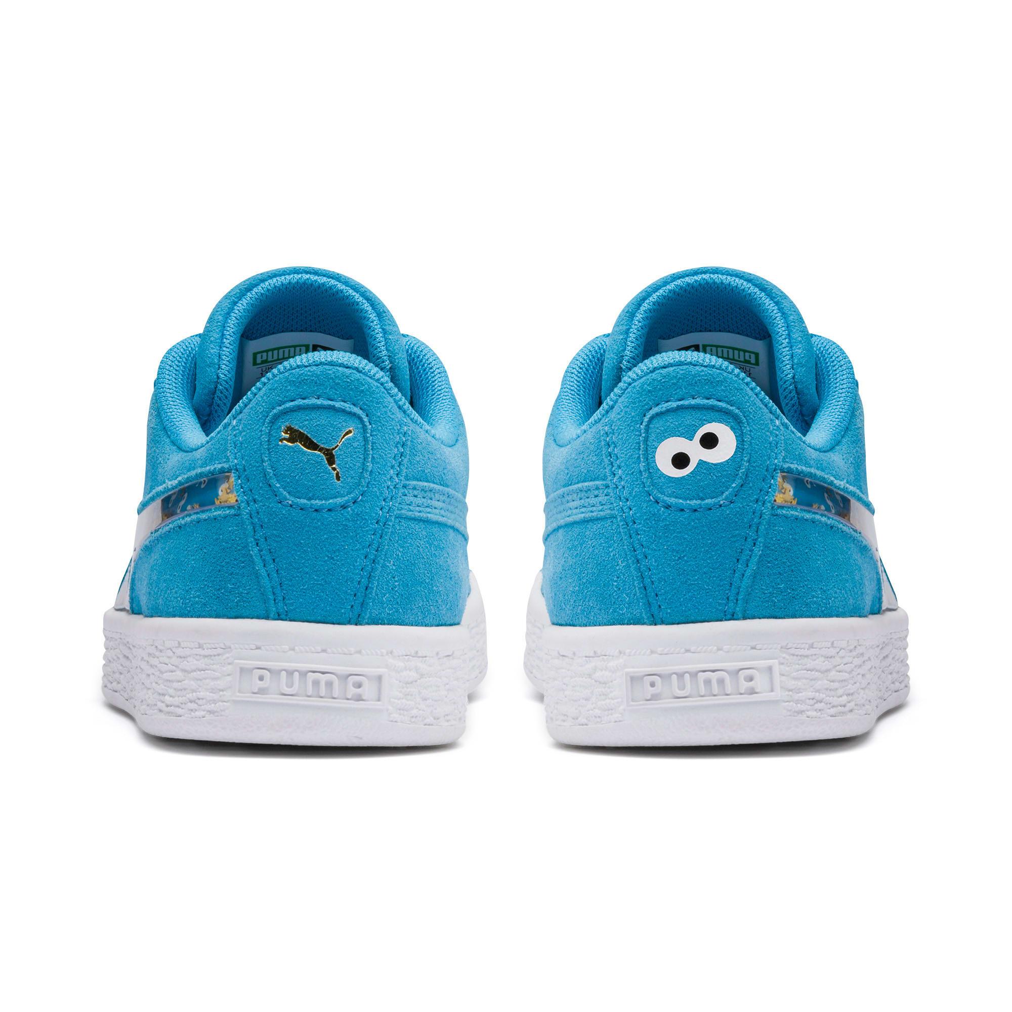 Thumbnail 3 of Sesamstraße 50 Suede Statement Kids Sneaker, Bleu Azur-Puma White, medium