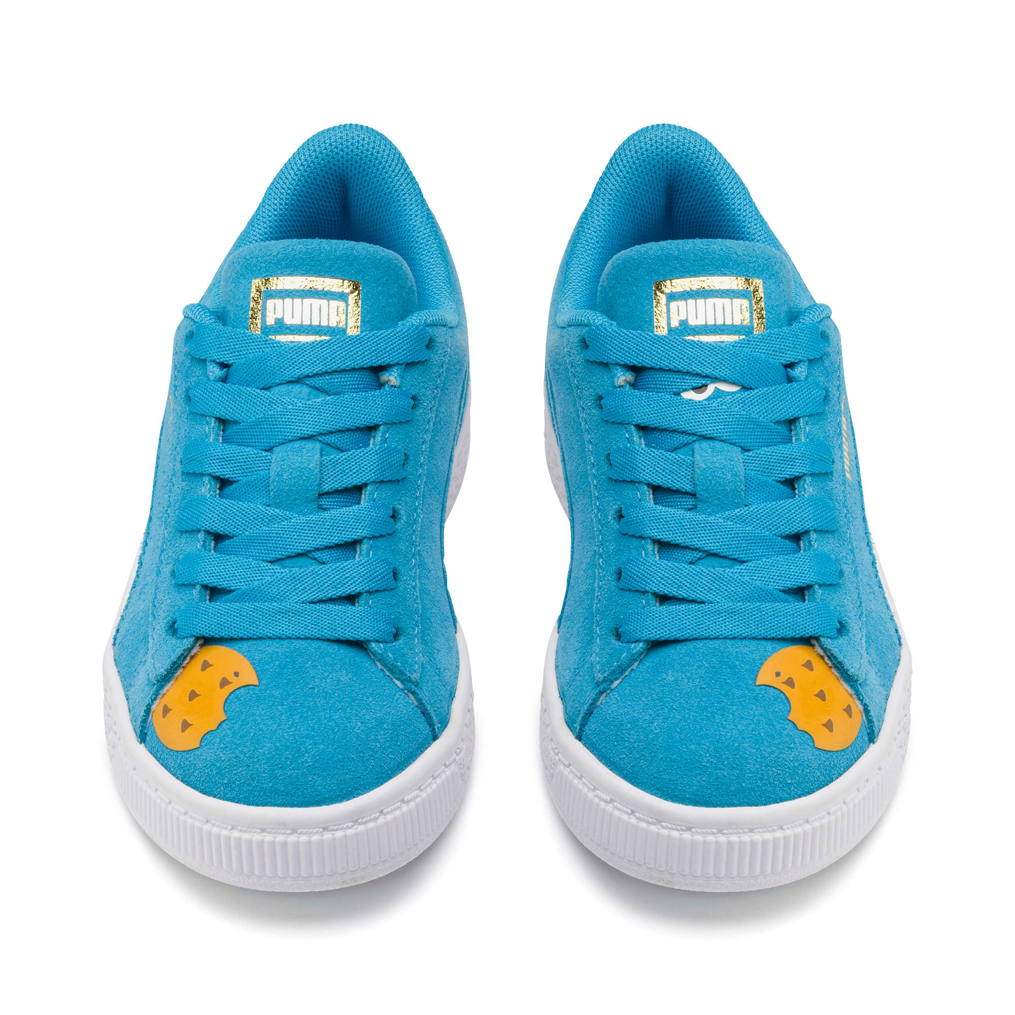 Thumbnail 7 of Sesamstraße 50 Suede Statement Kids Sneaker, Bleu Azur-Puma White, medium
