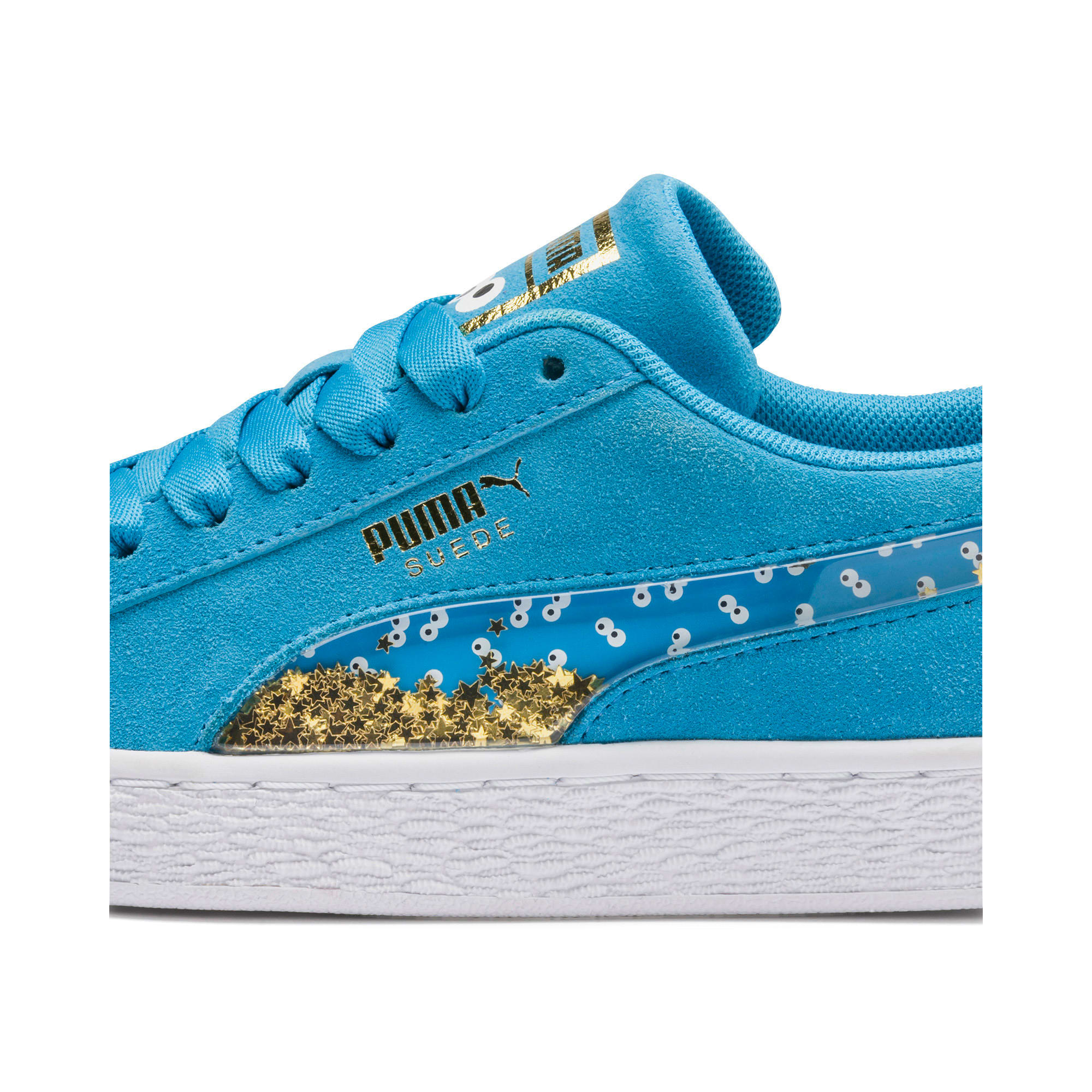 Thumbnail 8 of Sesamstraße 50 Suede Statement Kids Sneaker, Bleu Azur-Puma White, medium