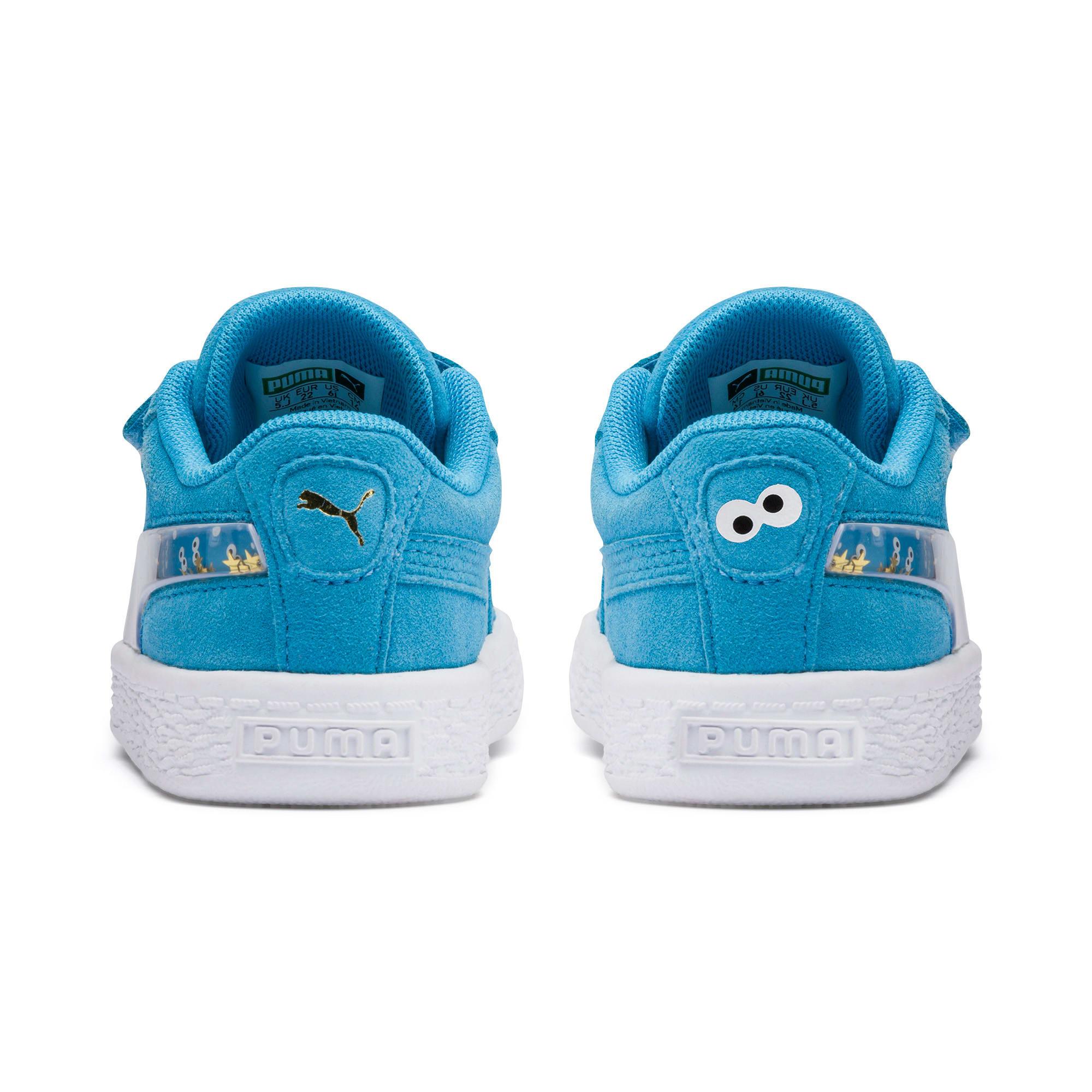 Thumbnail 3 of PUMA x SESAME STREET 50 Suede Statement Toddler Shoes, Bleu Azur-Puma White, medium