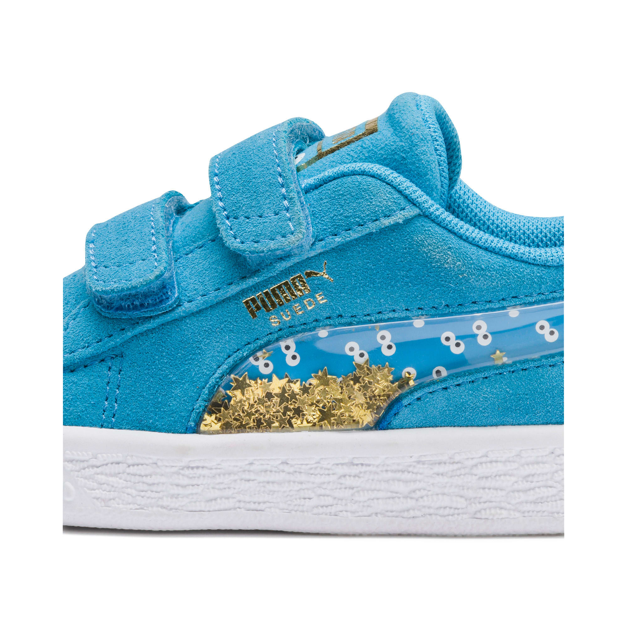 Thumbnail 8 of Sesame Street 50 Suede Statement Babies' Trainers, Bleu Azur-Puma White, medium