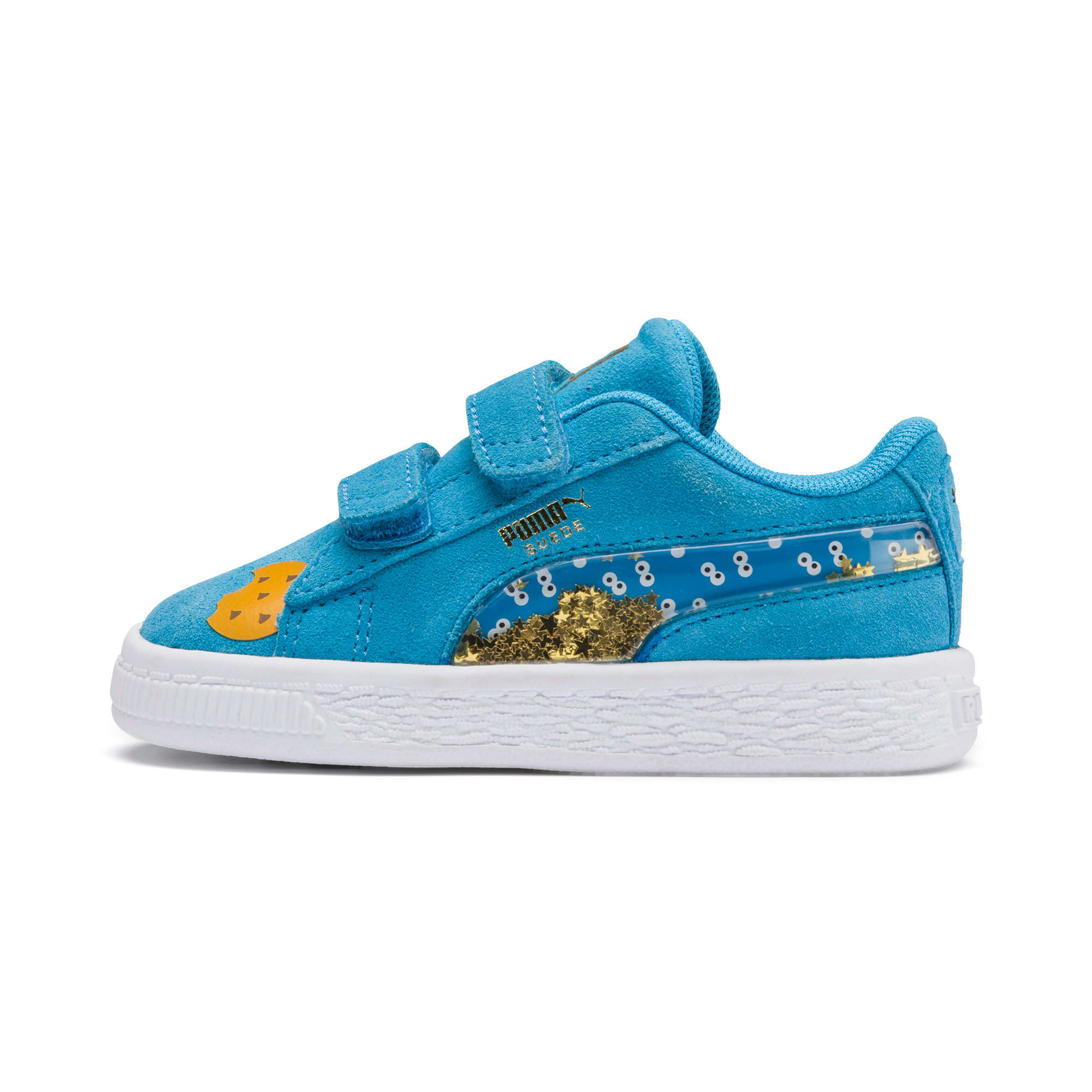 Thumbnail 1 of Sesame Street 50 Suede Statement Babies' Trainers, Bleu Azur-Puma White, medium