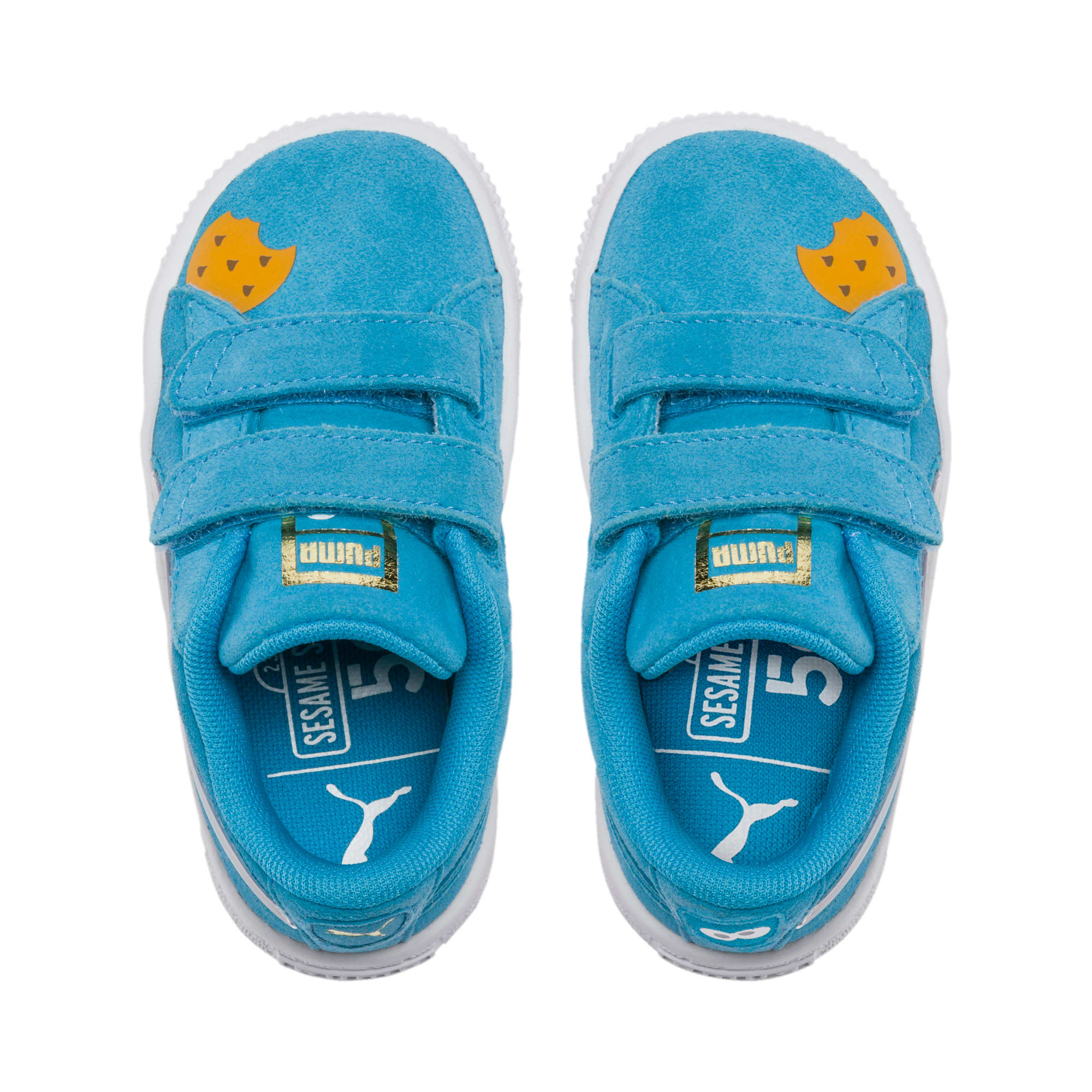Thumbnail 6 of Sesame Street 50 Suede Statement Babies' Trainers, Bleu Azur-Puma White, medium