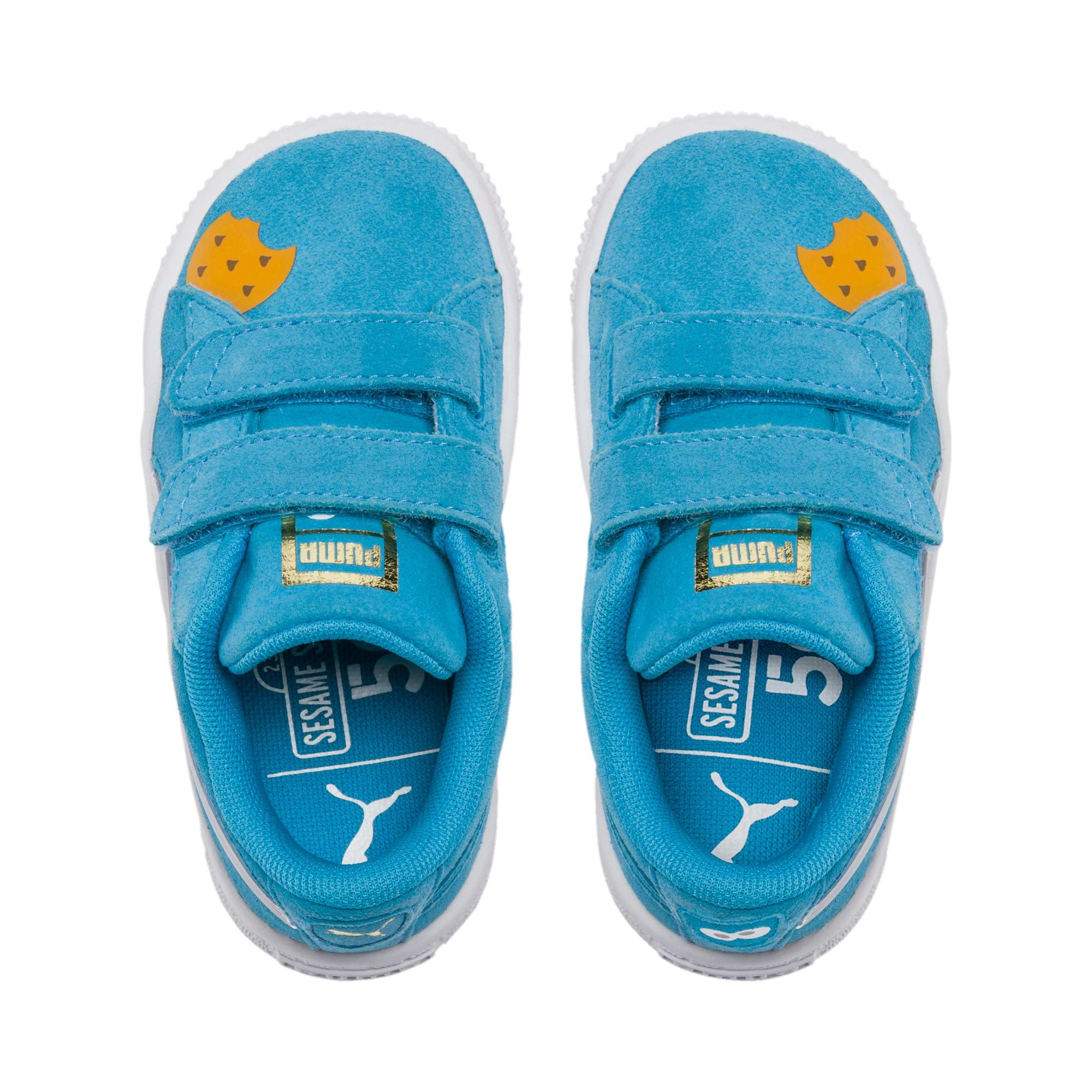 Thumbnail 6 of PUMA x SESAME STREET 50 Suede Statement Toddler Shoes, Bleu Azur-Puma White, medium