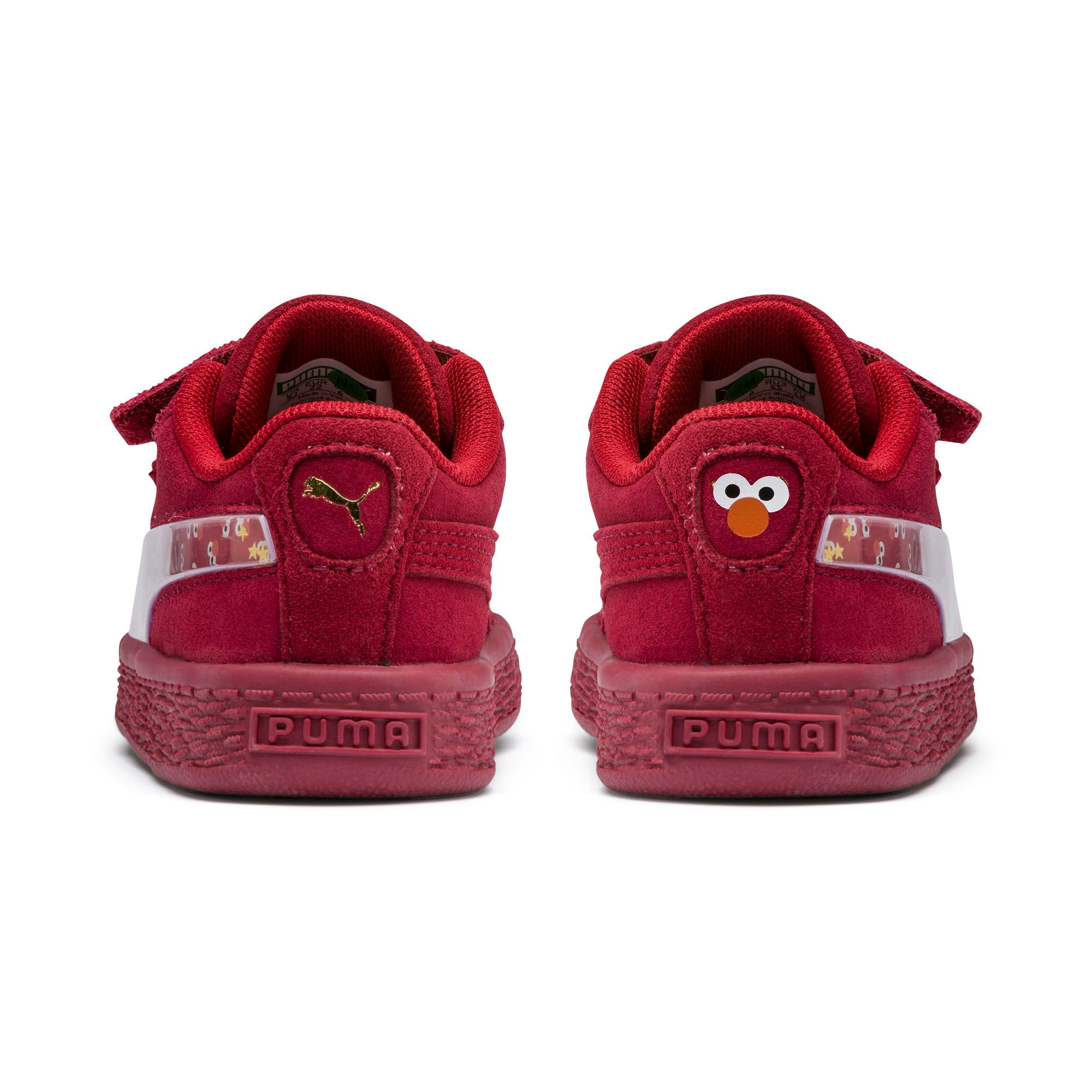 Thumbnail 3 of Sesame Street 50 Suede Statement Babies' Trainers, Rhubarb-Puma White, medium