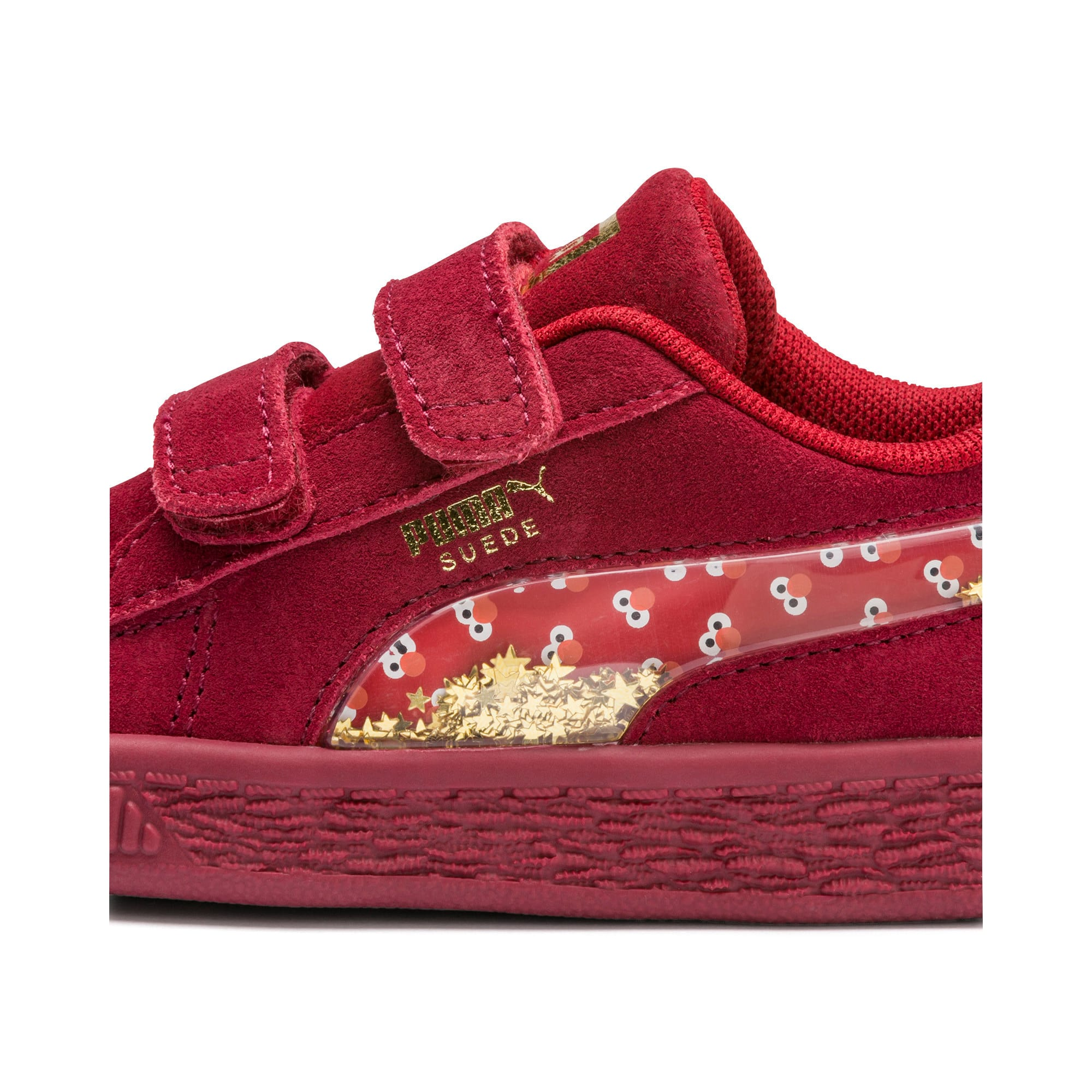 Thumbnail 8 of Sesame Street 50 Suede Statement Babies' Trainers, Rhubarb-Puma White, medium