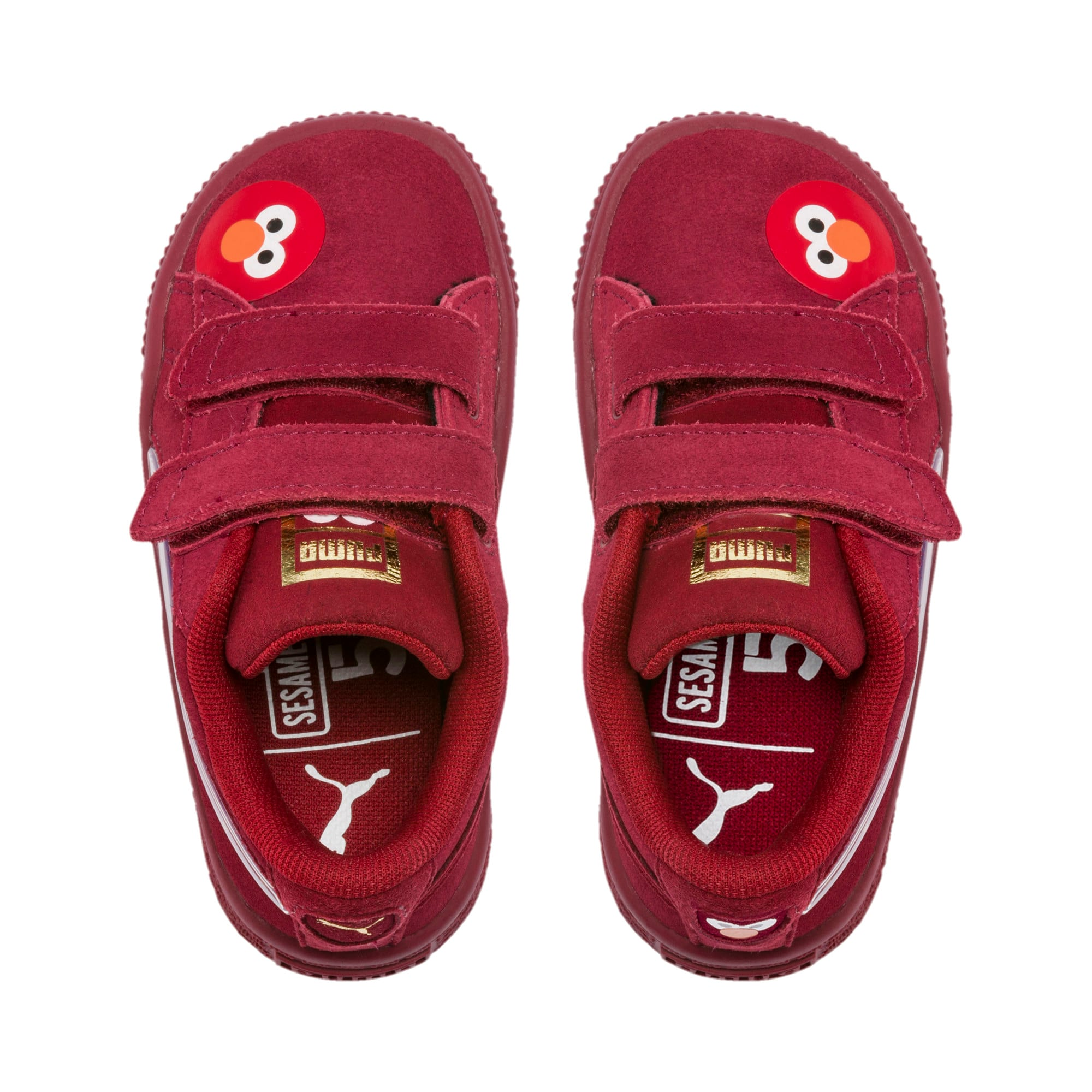 Thumbnail 6 of Sesame Street 50 Suede Statement Babies' Trainers, Rhubarb-Puma White, medium