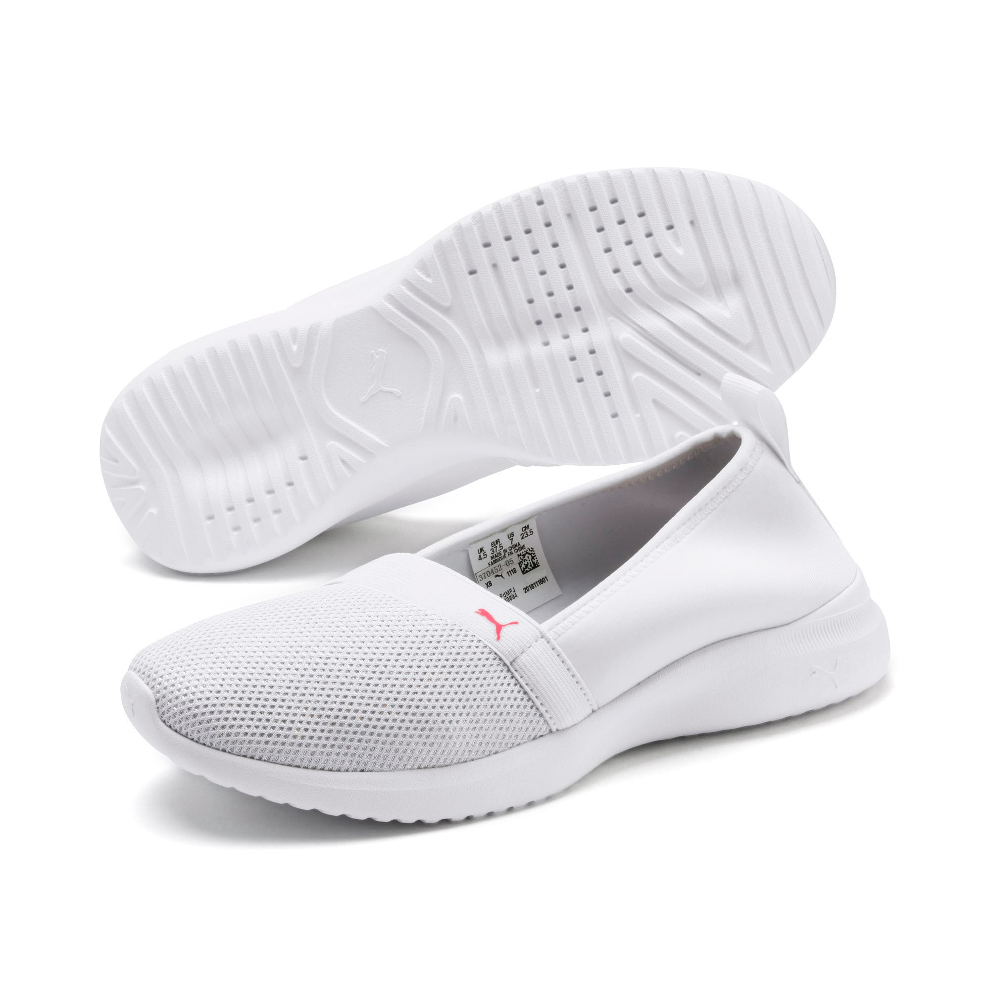 Thumbnail 2 of Adelina Sparkle Women's Trainers, Puma White-Pink Alert, medium-IND