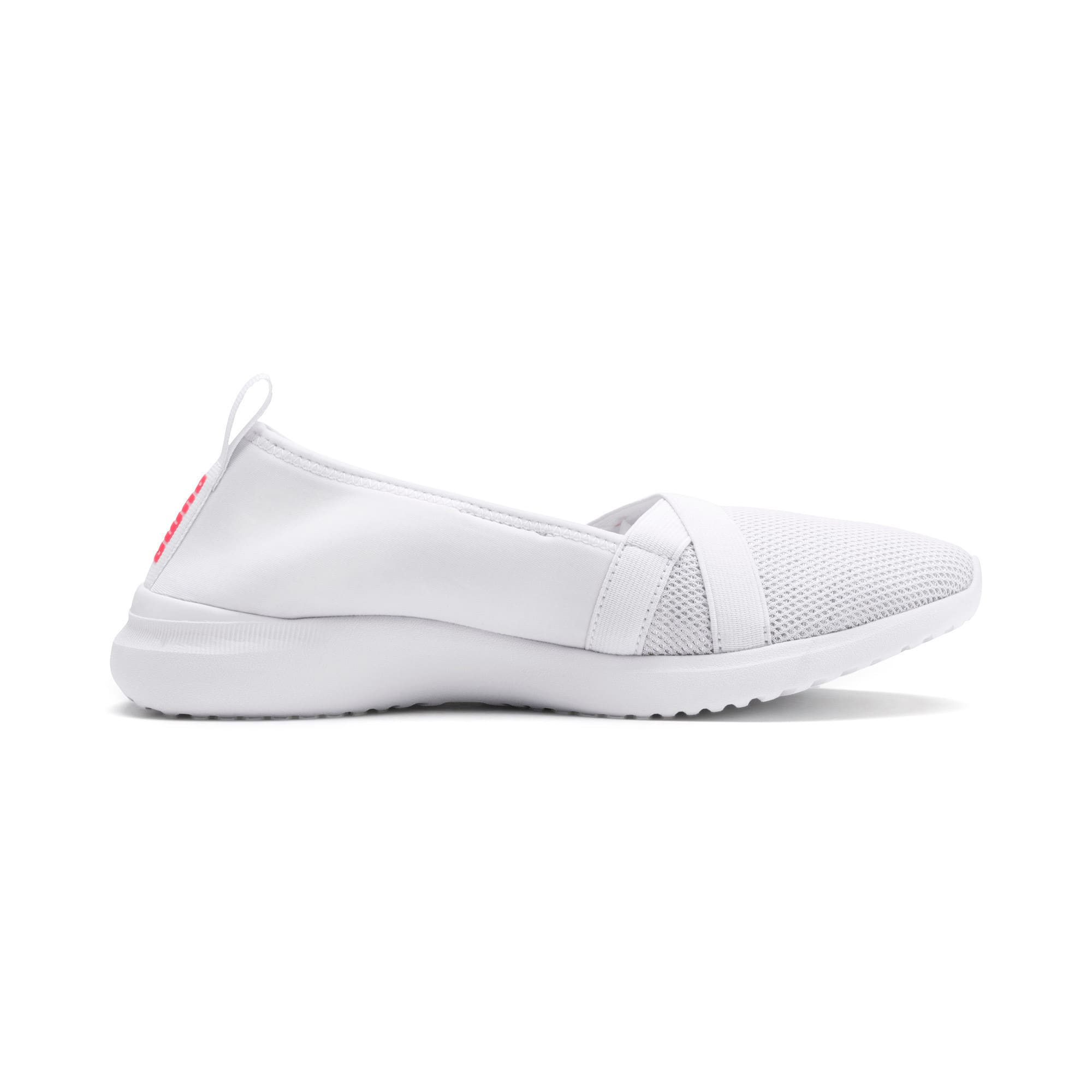 Thumbnail 5 of Adelina Sparkle Women's Trainers, Puma White-Pink Alert, medium-IND