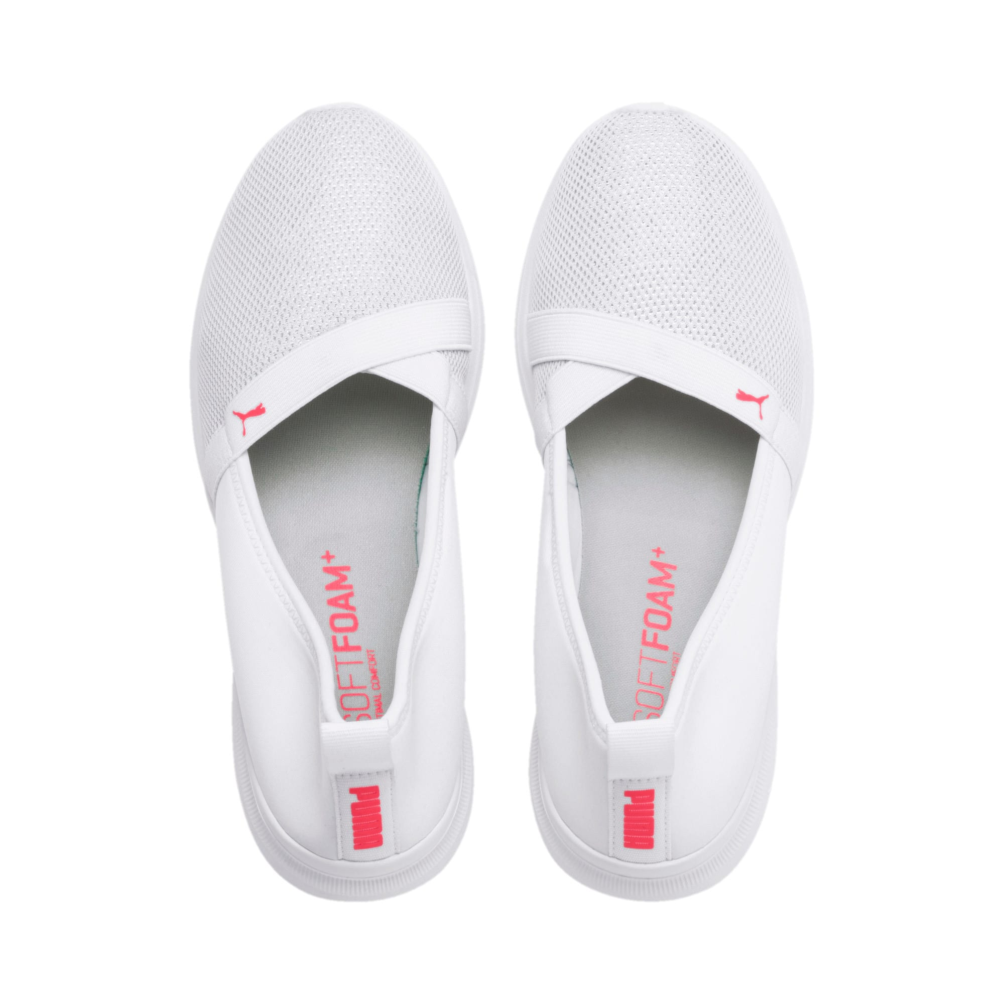 Thumbnail 6 of Adelina Sparkle Women's Trainers, Puma White-Pink Alert, medium-IND