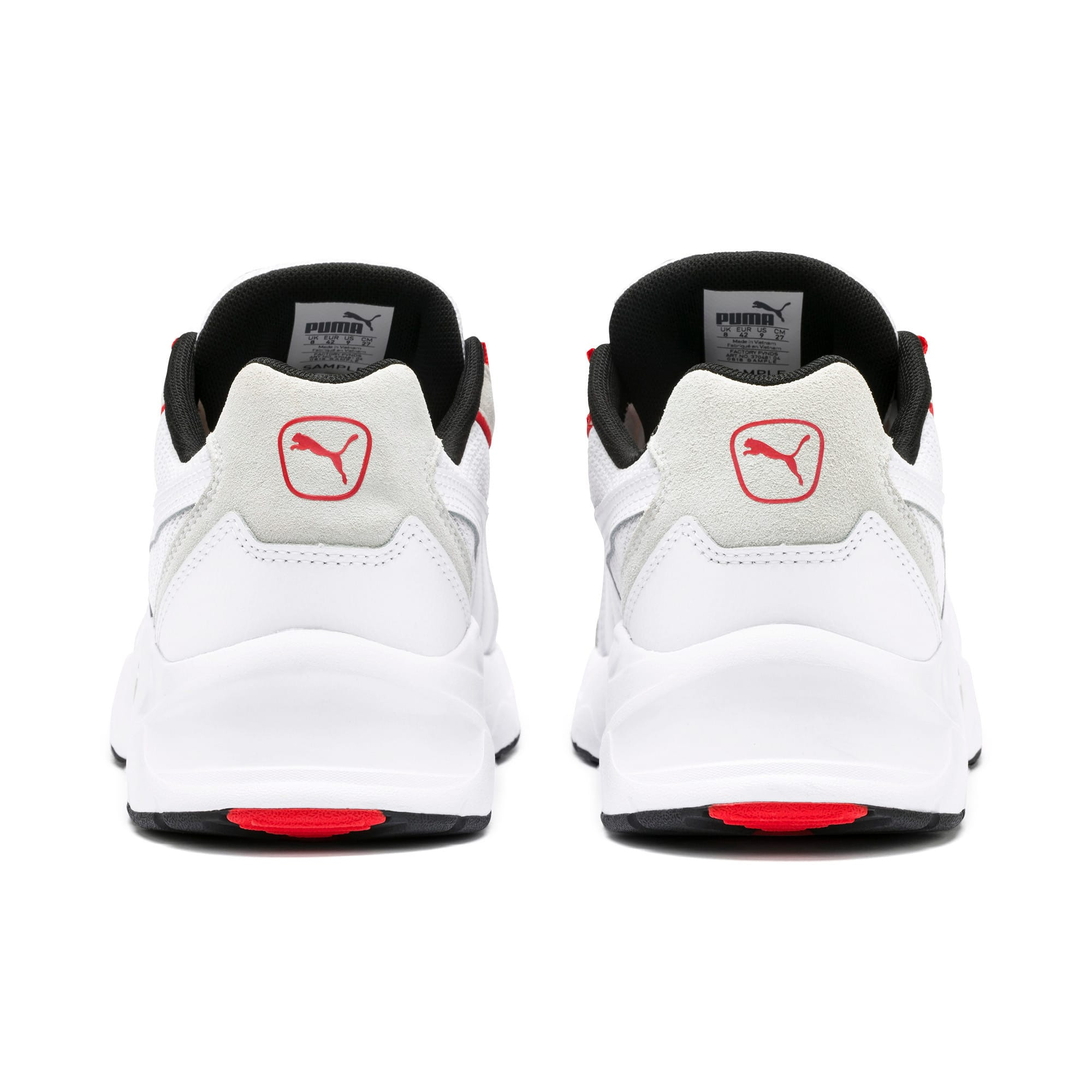 Thumbnail 4 of Nucleus Lux Trainers, Puma White-High Risk Red, medium