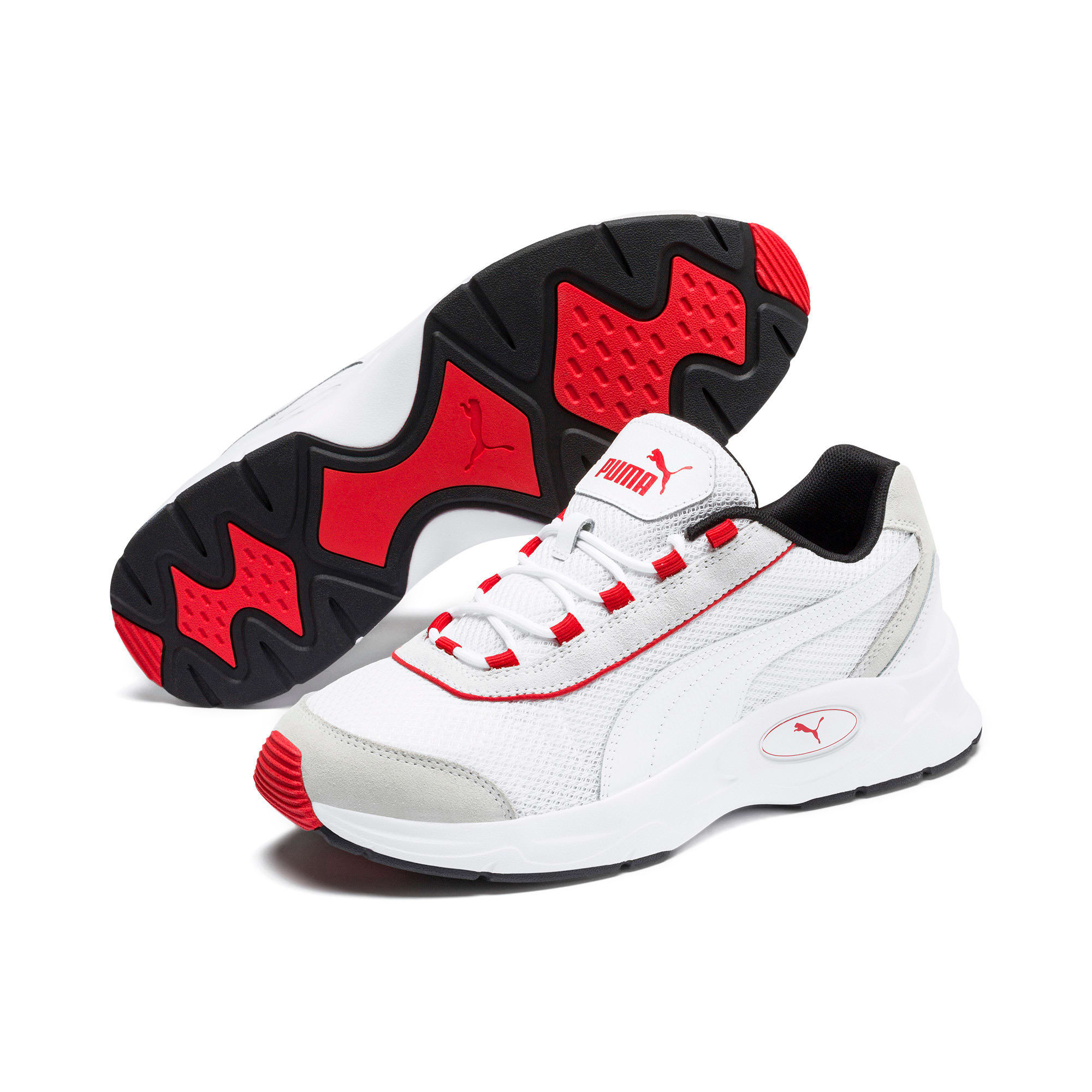 Thumbnail 3 of Nucleus Lux Trainers, Puma White-High Risk Red, medium