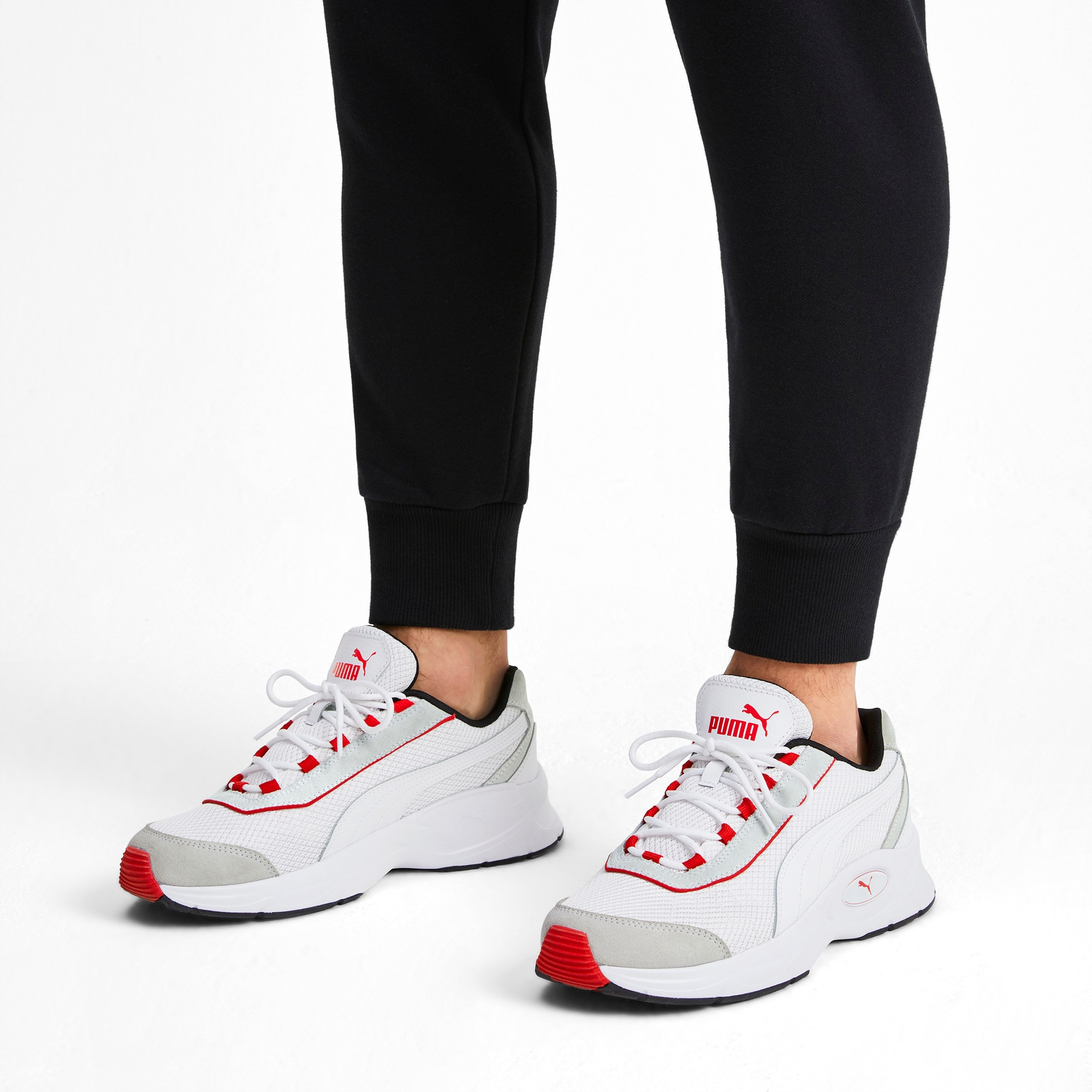 Thumbnail 2 of Nucleus Lux Trainers, Puma White-High Risk Red, medium