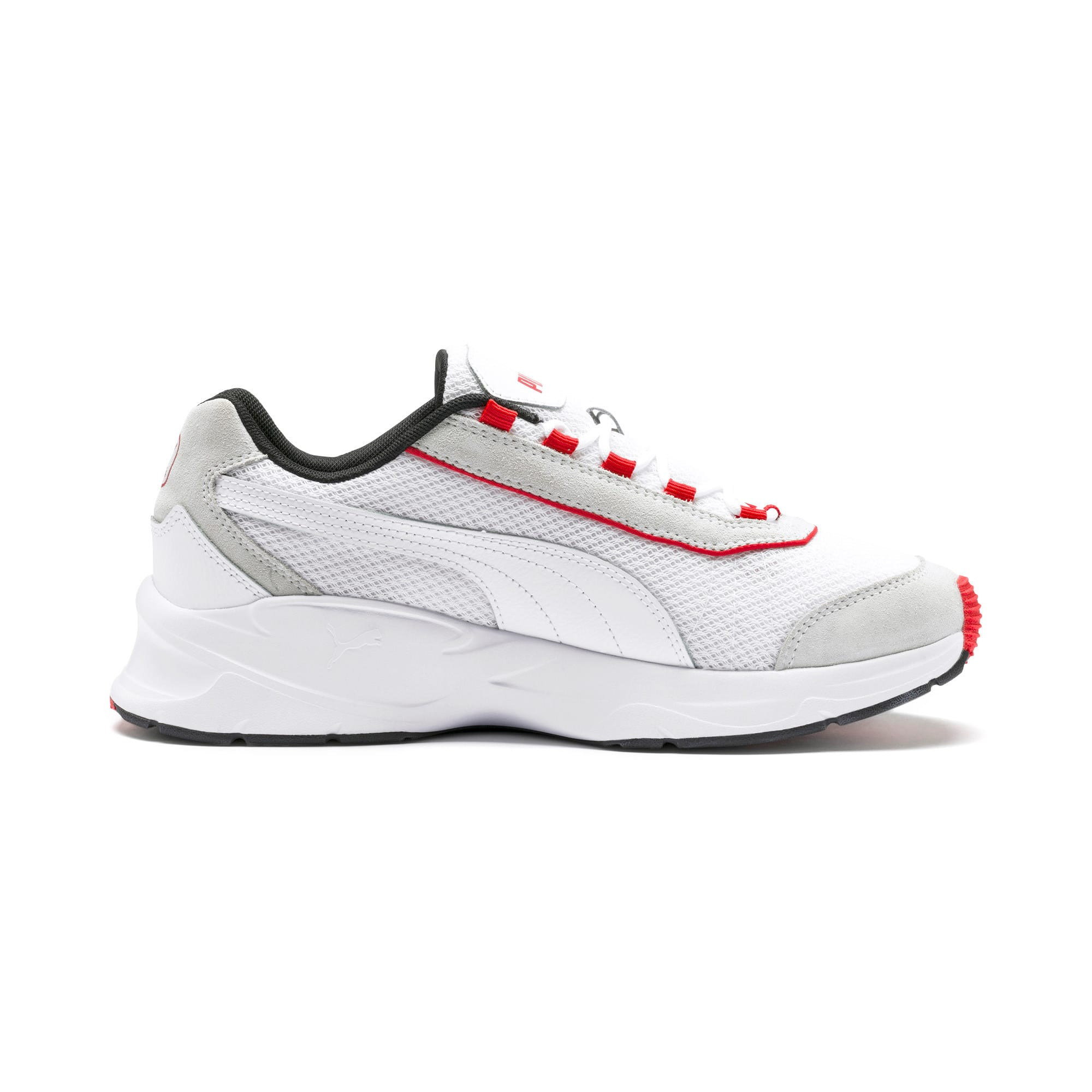 Thumbnail 6 of Nucleus Lux Trainers, Puma White-High Risk Red, medium