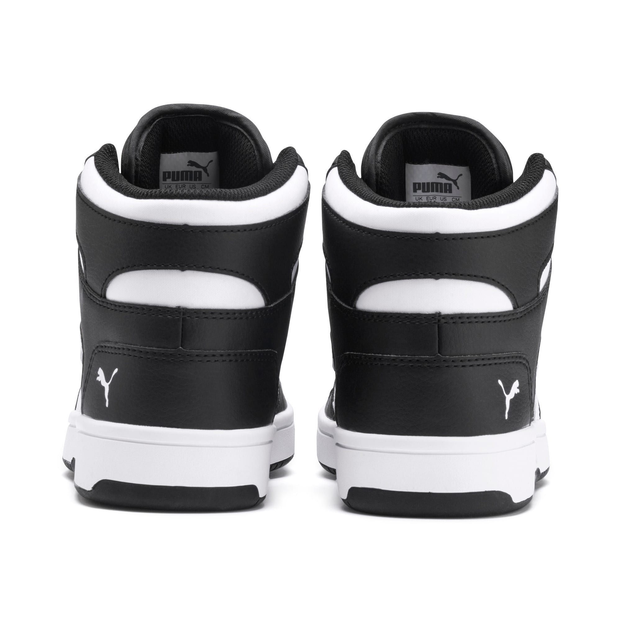 Rebound Lay-Up SL Youth Trainers, Puma Black-Puma White, large