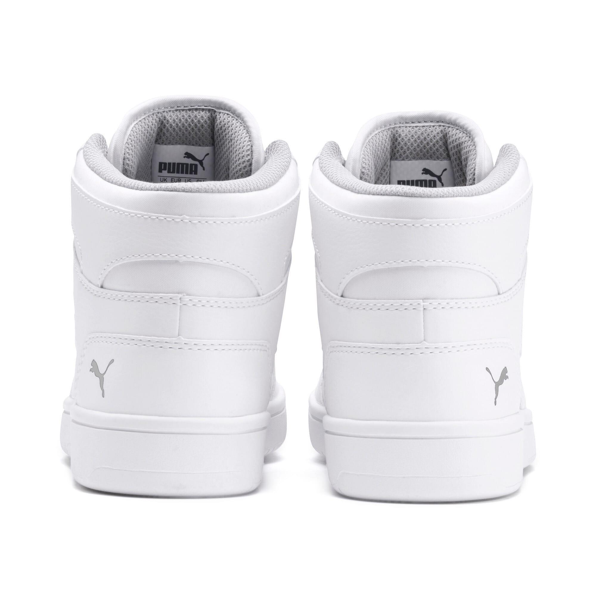Thumbnail 3 of PUMA Rebound LayUp Mid Sneakers JR, Puma White-Gray Violet, medium