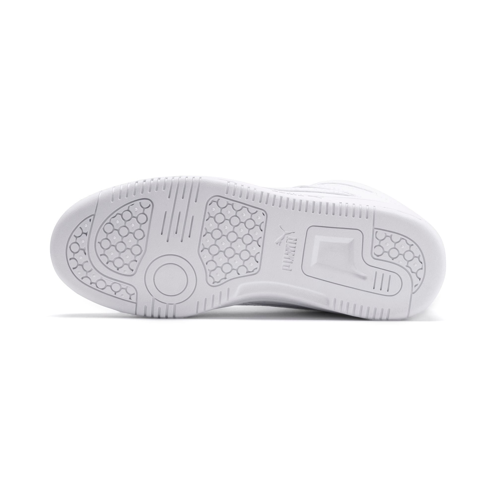 Thumbnail 4 of PUMA Rebound LayUp Mid Sneakers JR, Puma White-Gray Violet, medium