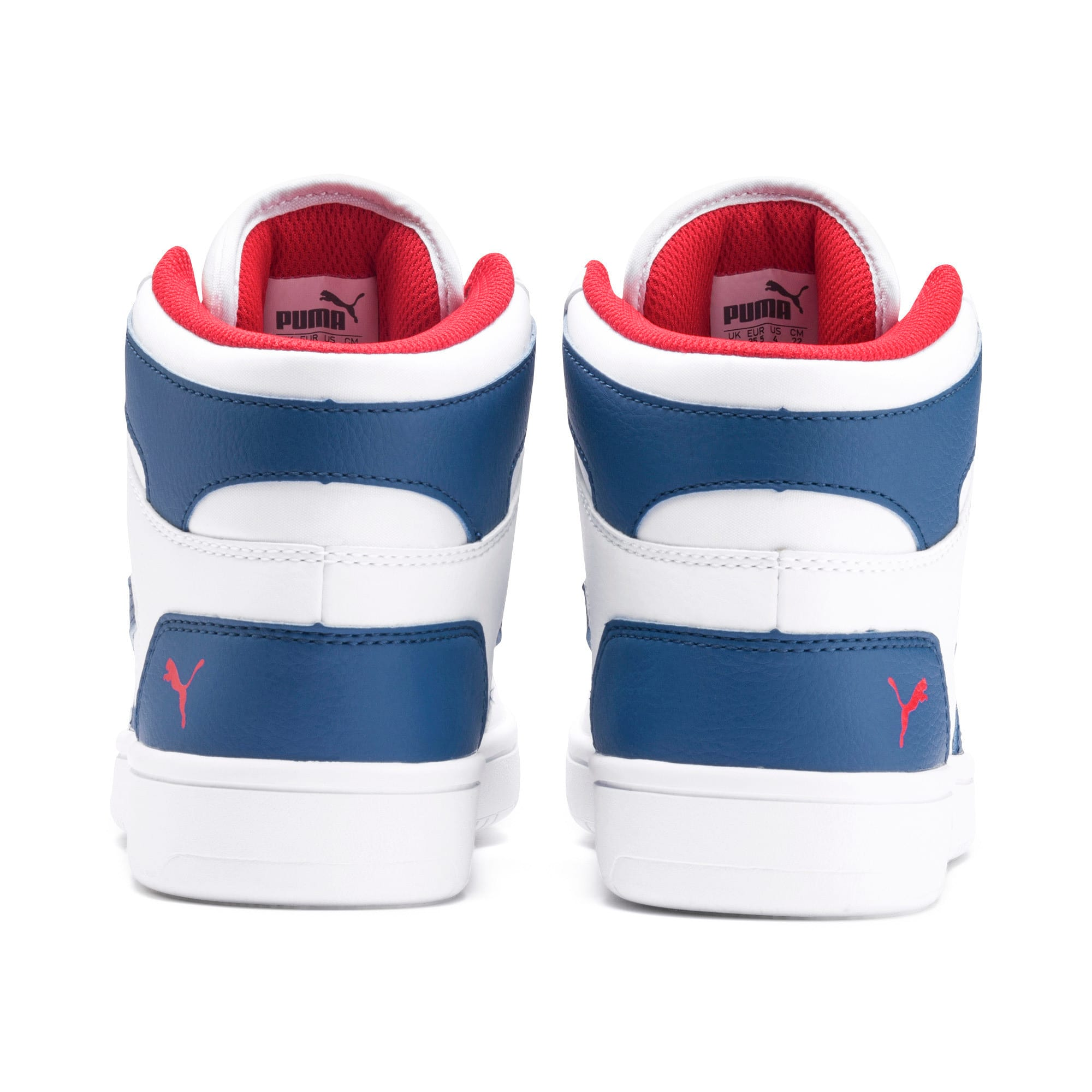 Thumbnail 3 of Rebound Lay-Up SL Youth Trainers, White-Galaxy Blue-Red, medium