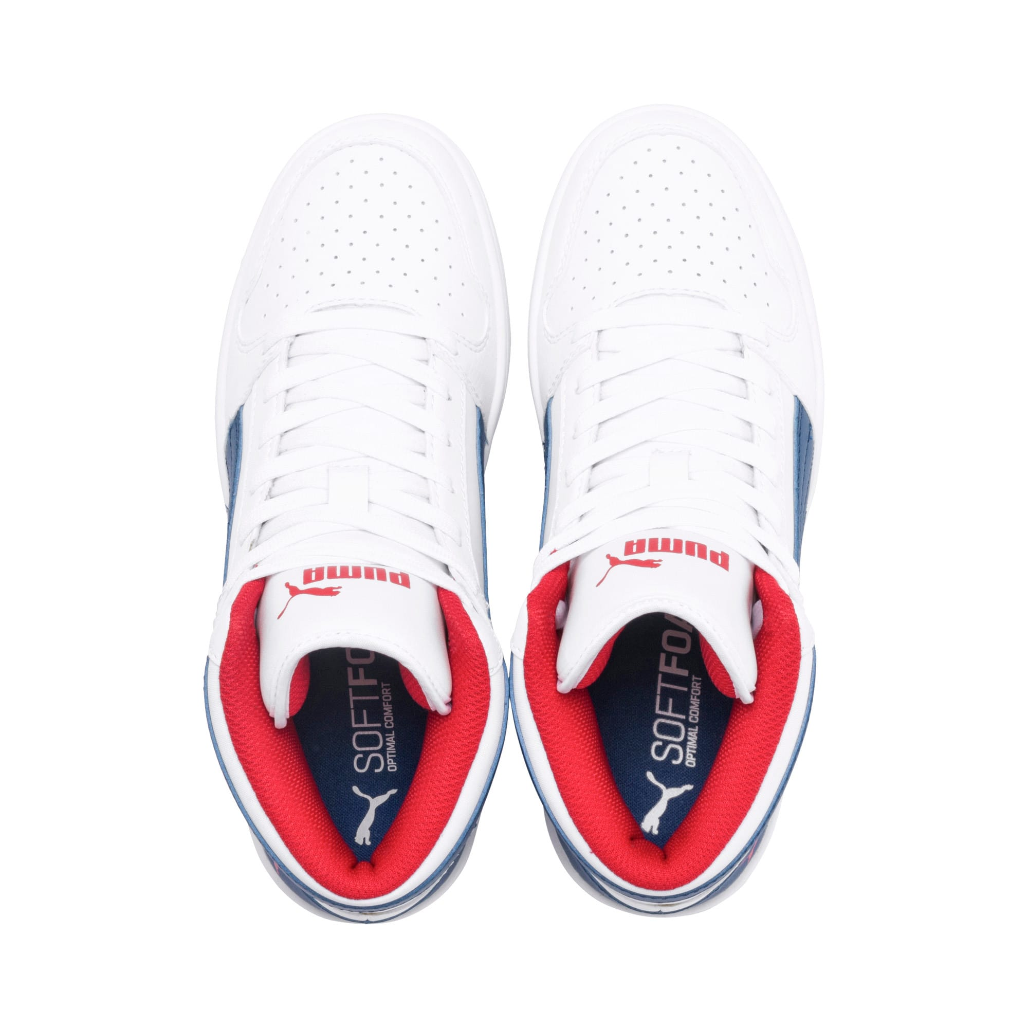 Thumbnail 6 of Rebound Lay-Up SL Youth Trainers, White-Galaxy Blue-Red, medium