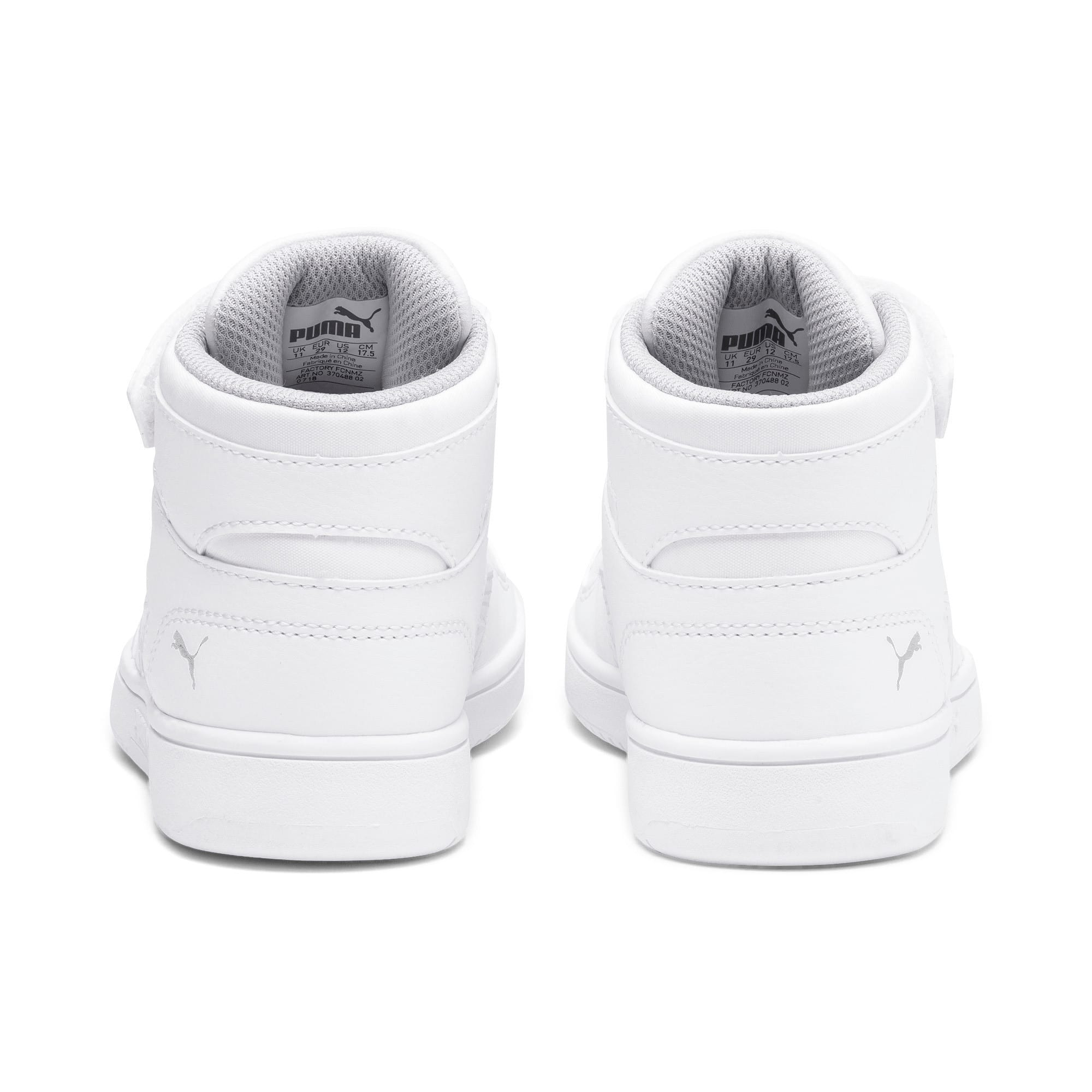 Thumbnail 3 of Rebound Lay-Up SL V Kids Sneaker, Puma White-Gray Violet, medium