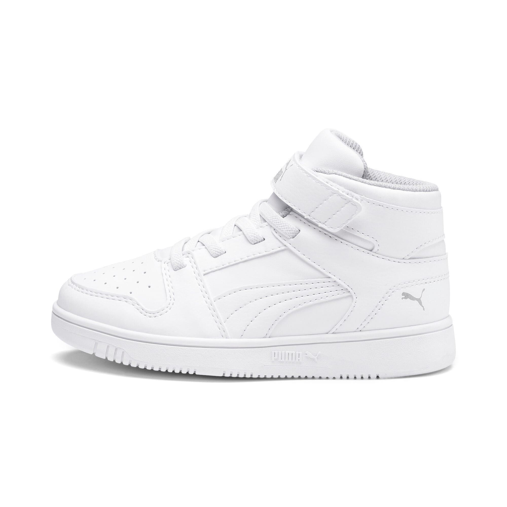 Thumbnail 1 of Rebound Lay-Up SL V Kids Sneaker, Puma White-Gray Violet, medium