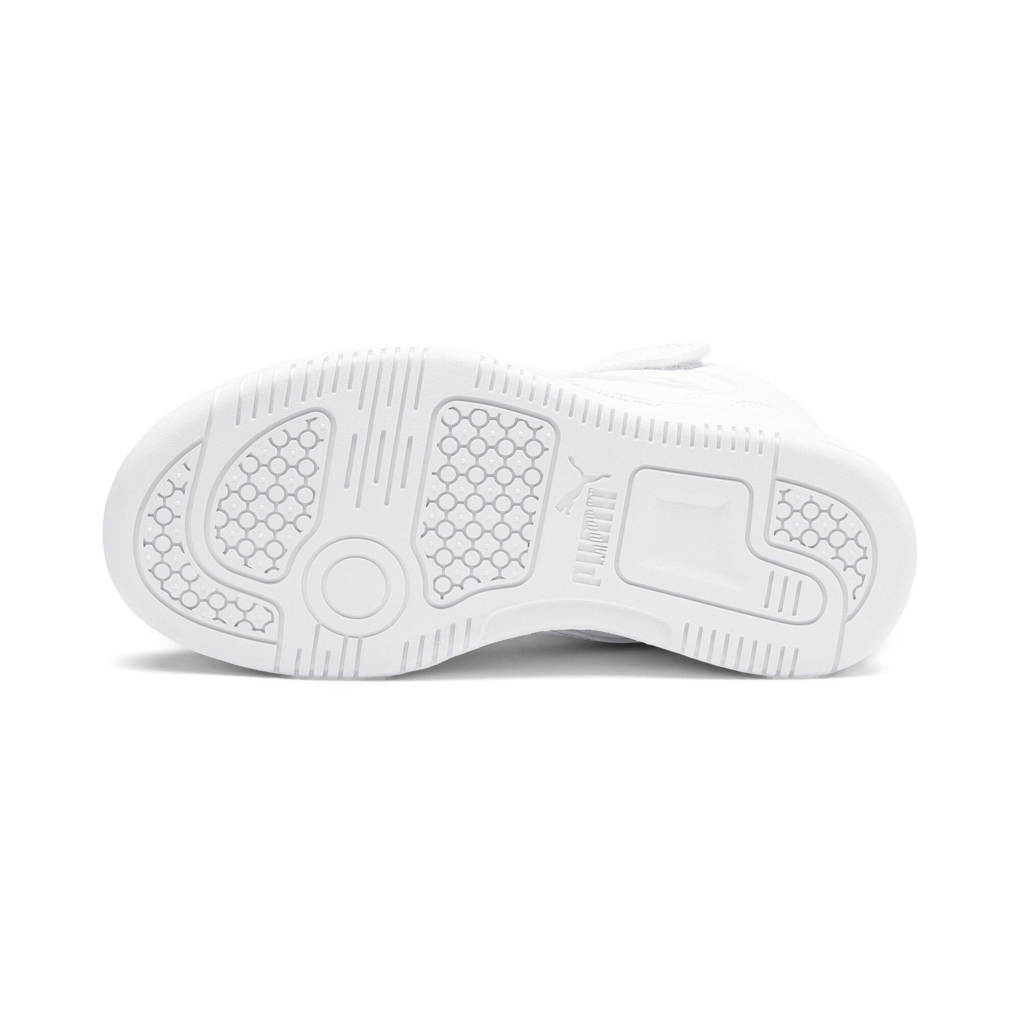 Thumbnail 4 of Rebound Lay-Up SL V Kids Sneaker, Puma White-Gray Violet, medium
