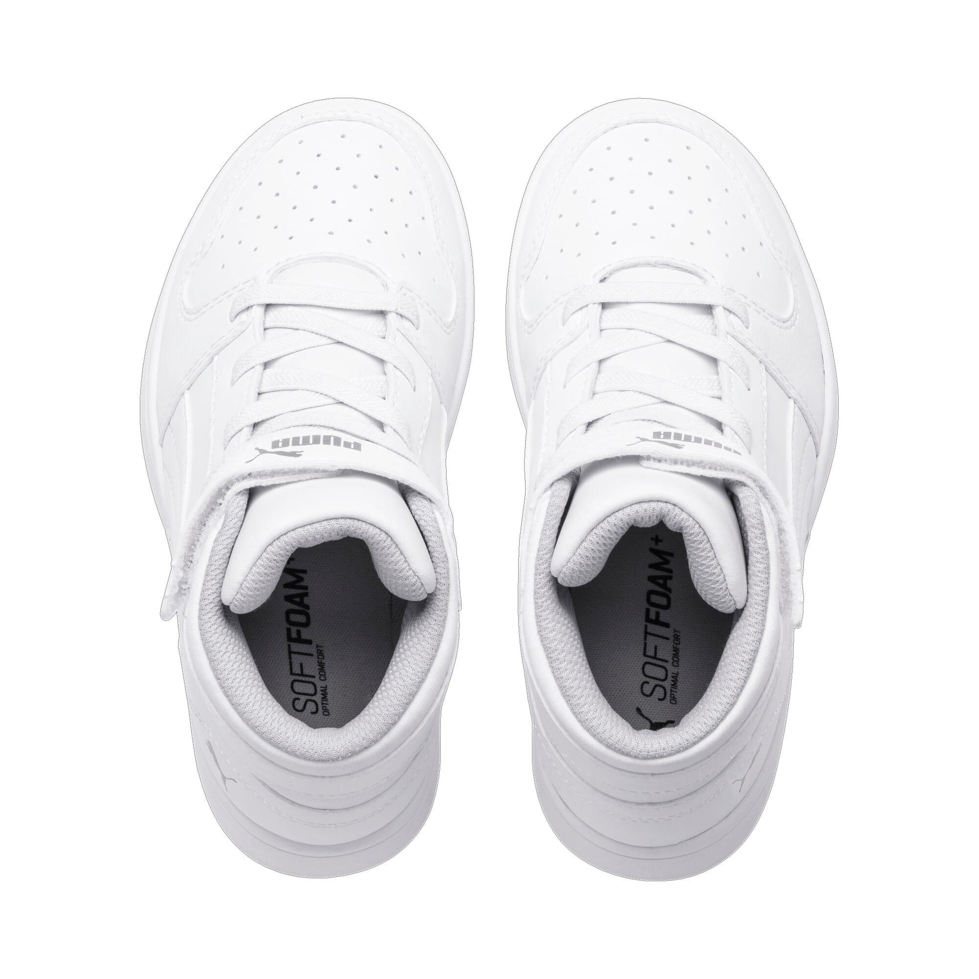 Thumbnail 6 of Rebound Lay-Up SL V Kids Sneaker, Puma White-Gray Violet, medium
