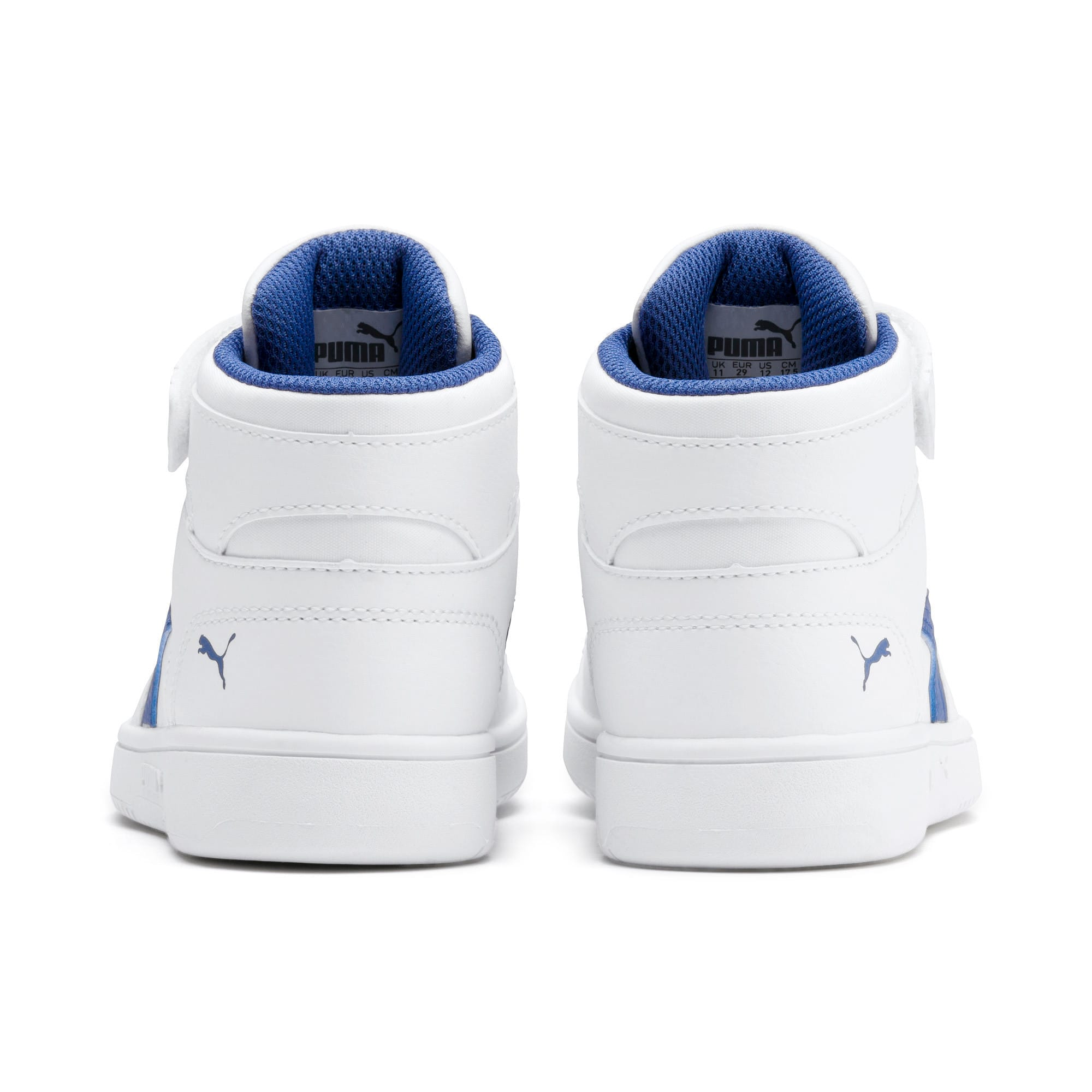 Thumbnail 3 of Rebound Lay-Up SL V Kids' Trainers, Puma White-Galaxy Blue, medium-IND