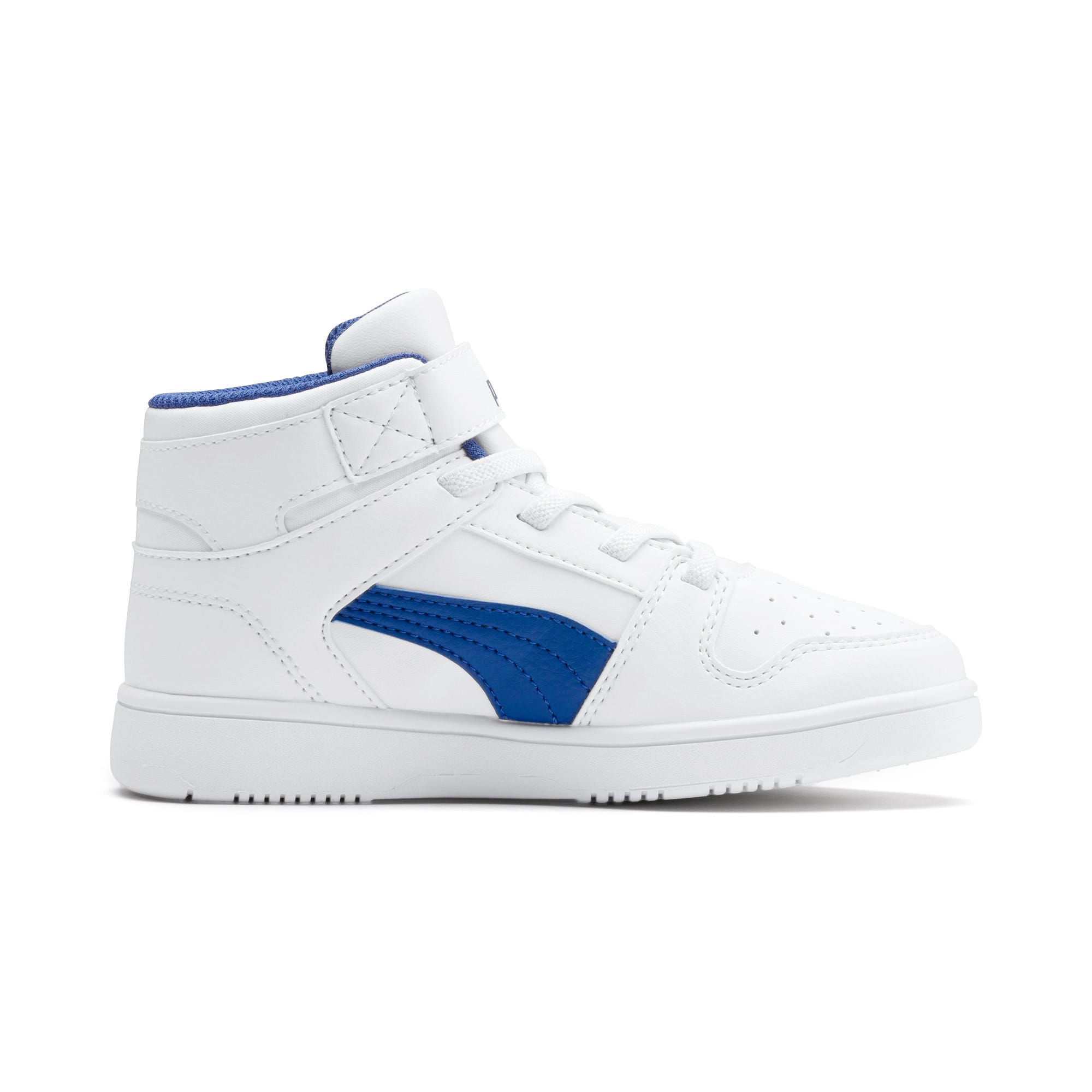 Thumbnail 5 of Rebound Lay-Up SL V Kids' Trainers, Puma White-Galaxy Blue, medium-IND