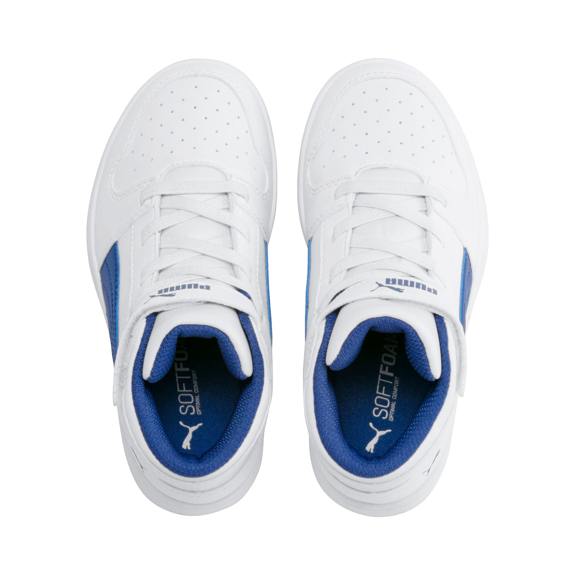 Thumbnail 6 of Rebound Lay-Up SL V Kids' Trainers, Puma White-Galaxy Blue, medium-IND