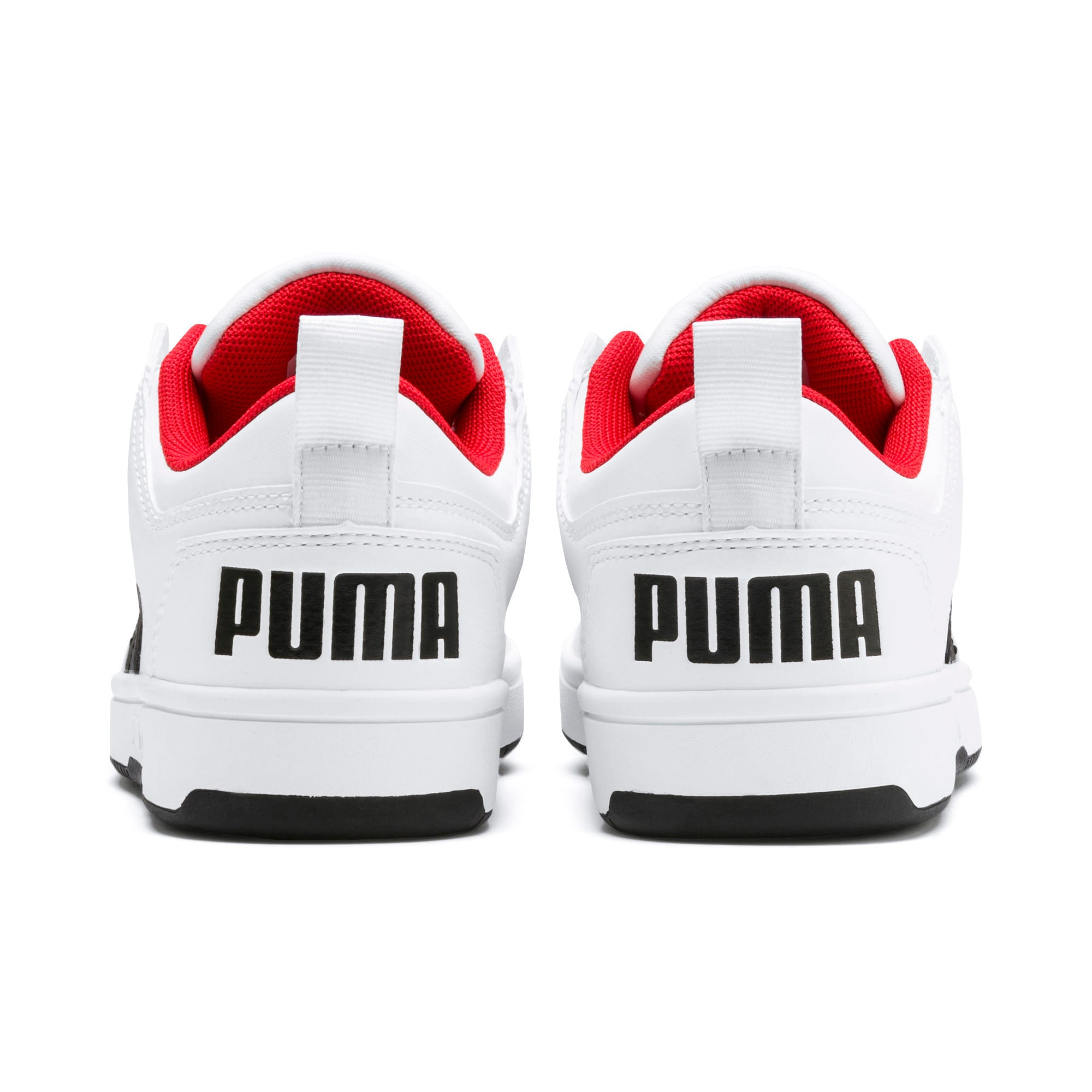 Thumbnail 3 of Rebound Lay-Up Lo Youth Trainers, Puma White-Puma Black-Red, medium-IND