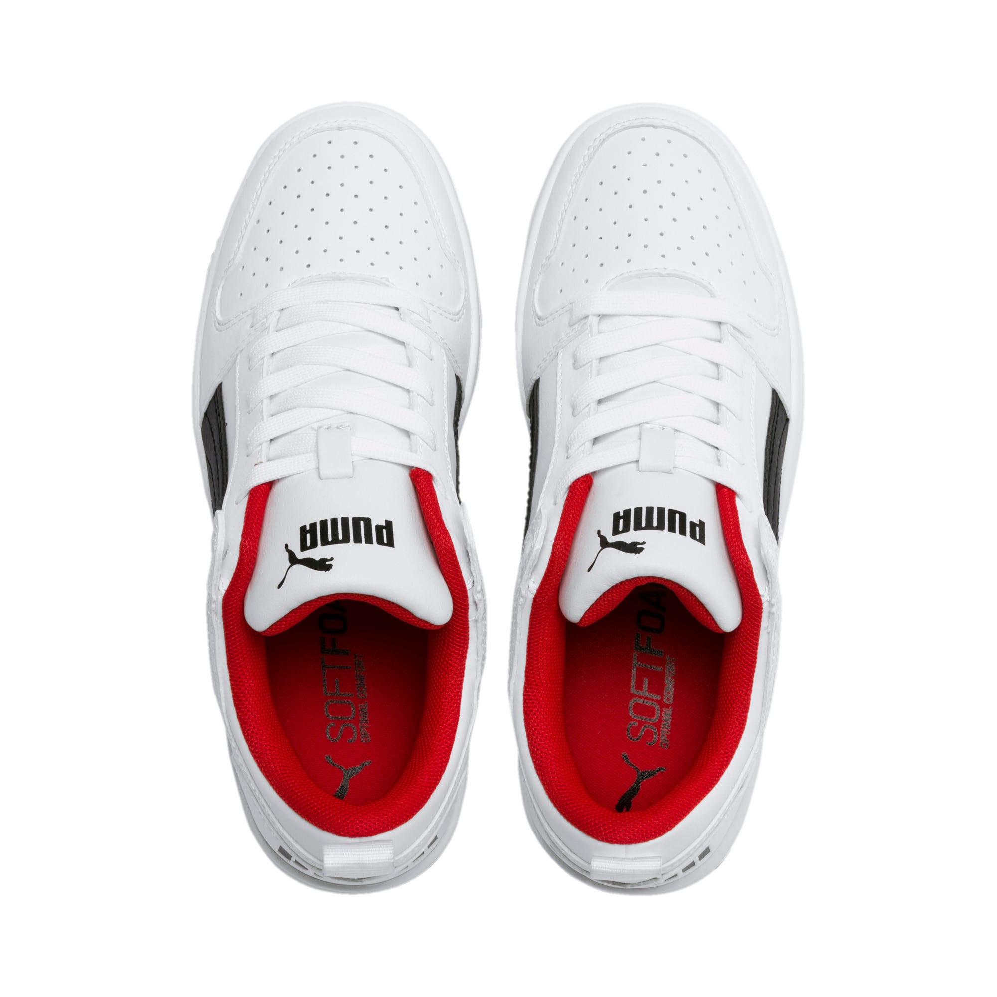 Thumbnail 2 of Rebound Lay-Up Lo Youth Trainers, Puma White-Puma Black-Red, medium-IND
