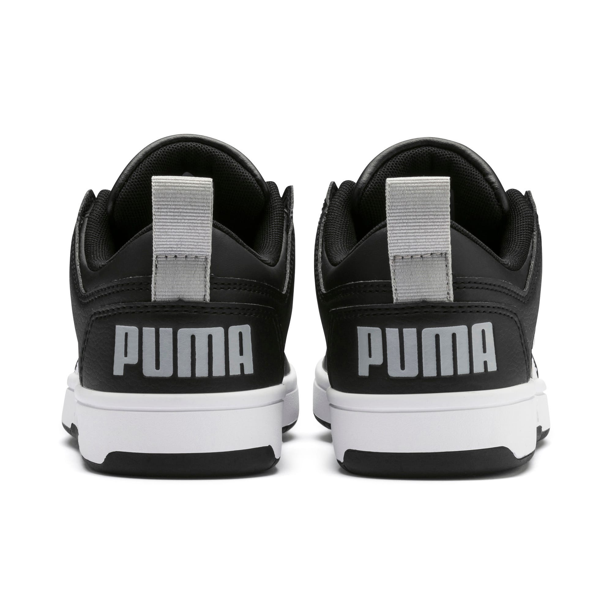 Thumbnail 3 of Rebound Lay-Up Lo Youth Trainers, Puma Black-White-High Rise, medium