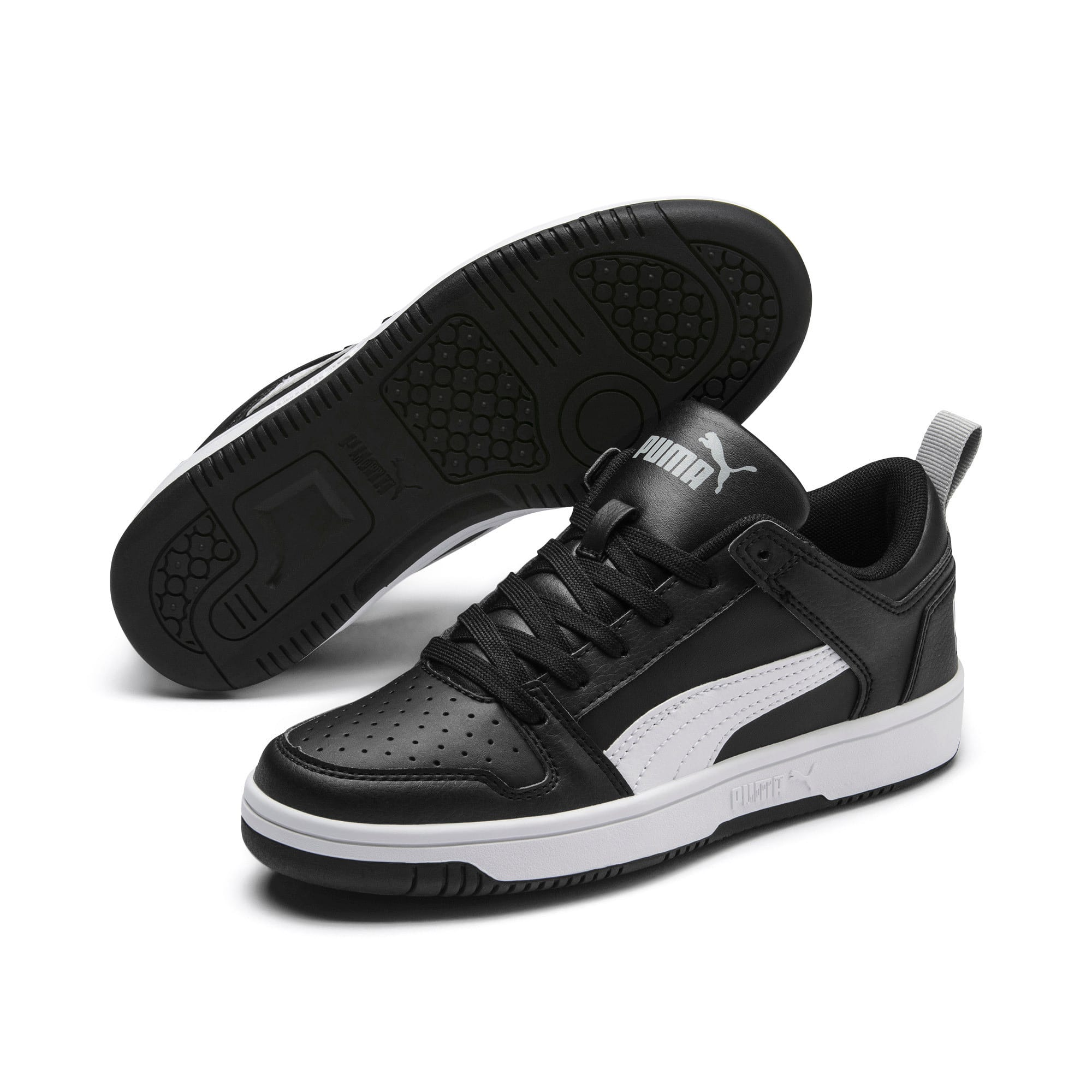 Thumbnail 2 of Rebound Lay-Up Lo Youth Trainers, Puma Black-White-High Rise, medium