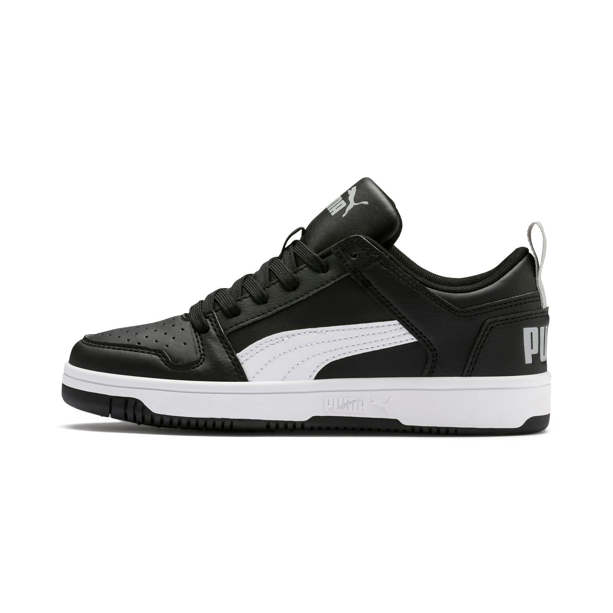 Thumbnail 1 of Rebound Lay-Up Lo Youth Trainers, Puma Black-White-High Rise, medium